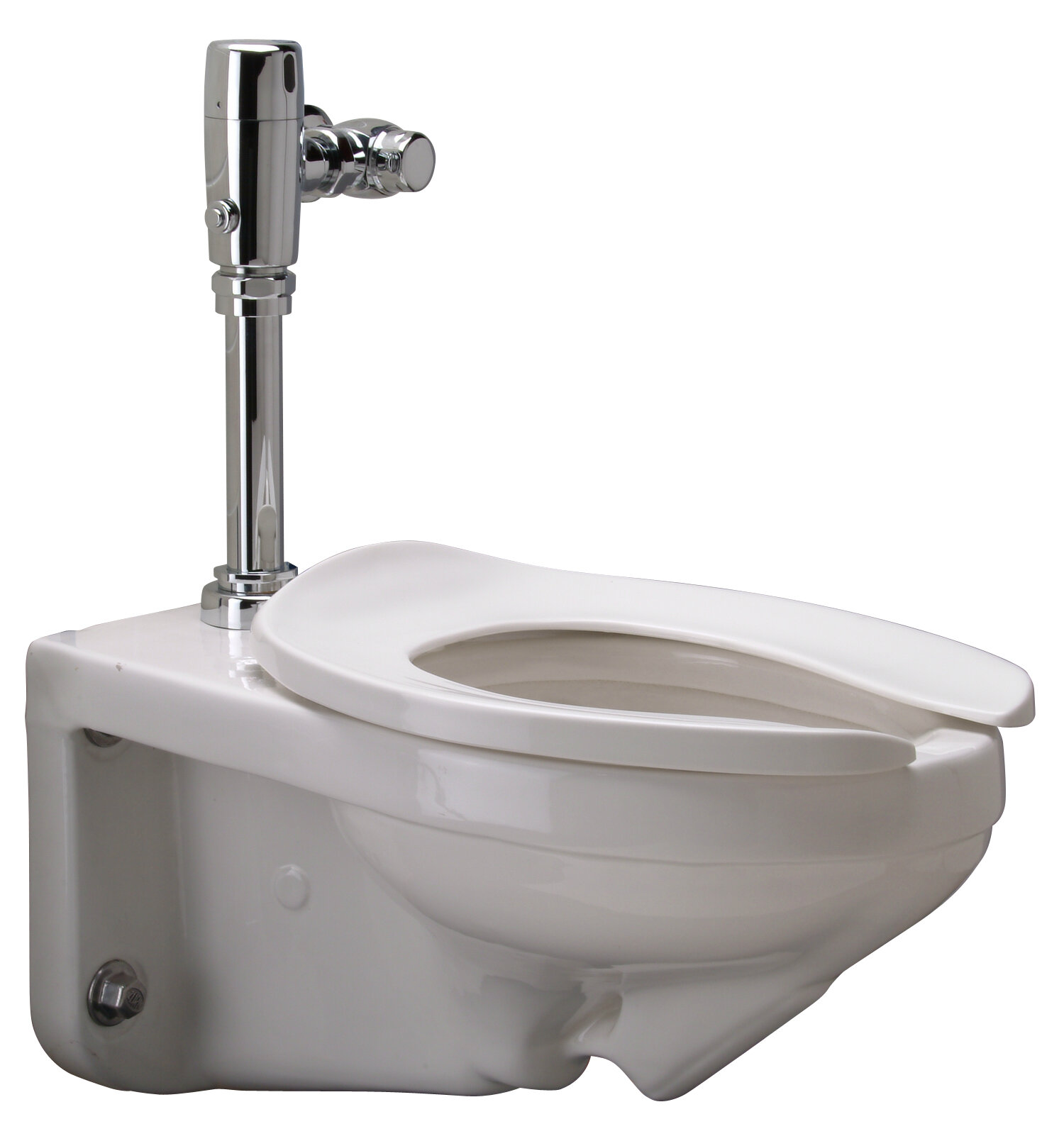 Zurn wall mounted gpf elongated one piece toilet for Flush with the wall
