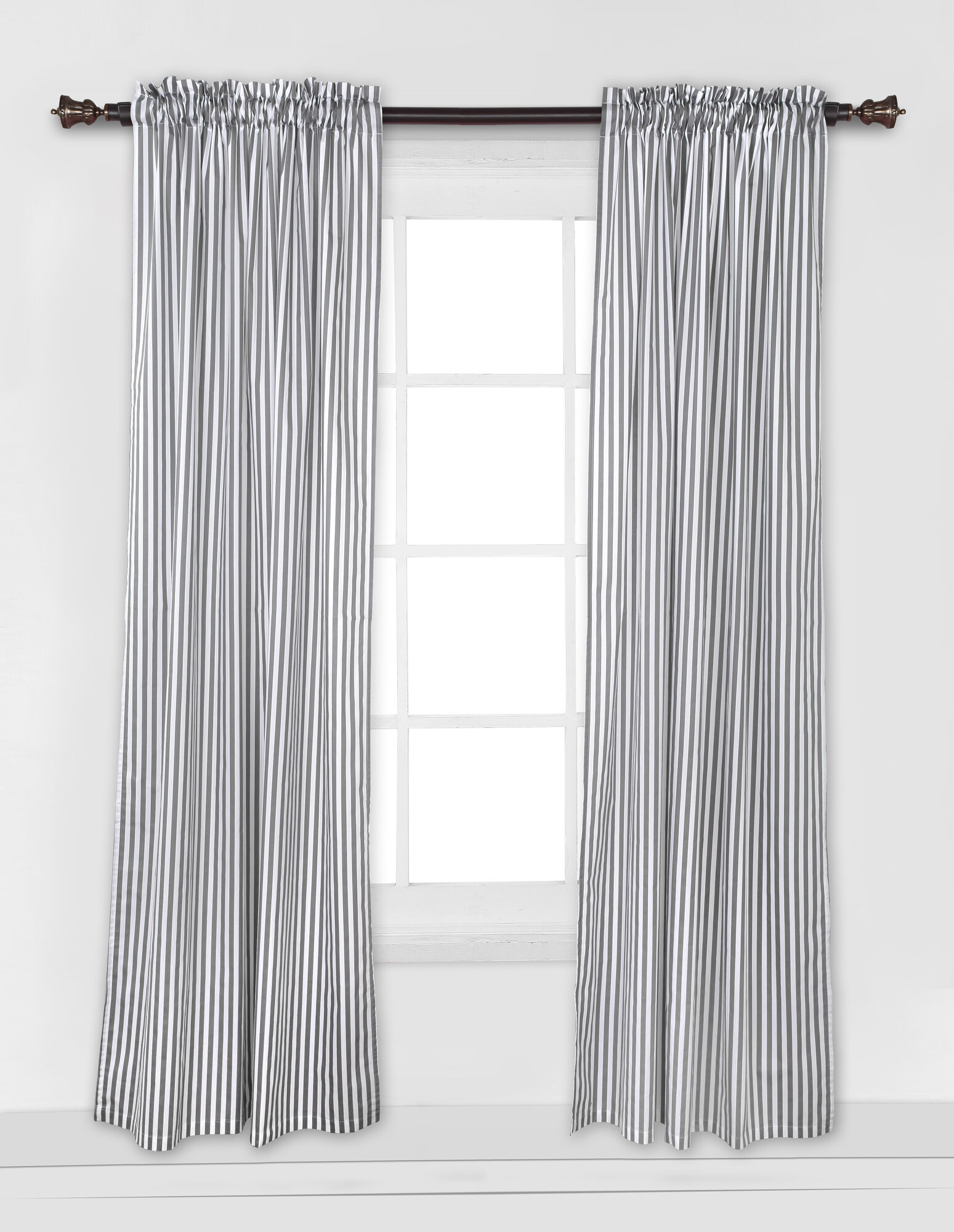 Bacati Pin Stripes Single Curtain Panel Ebay