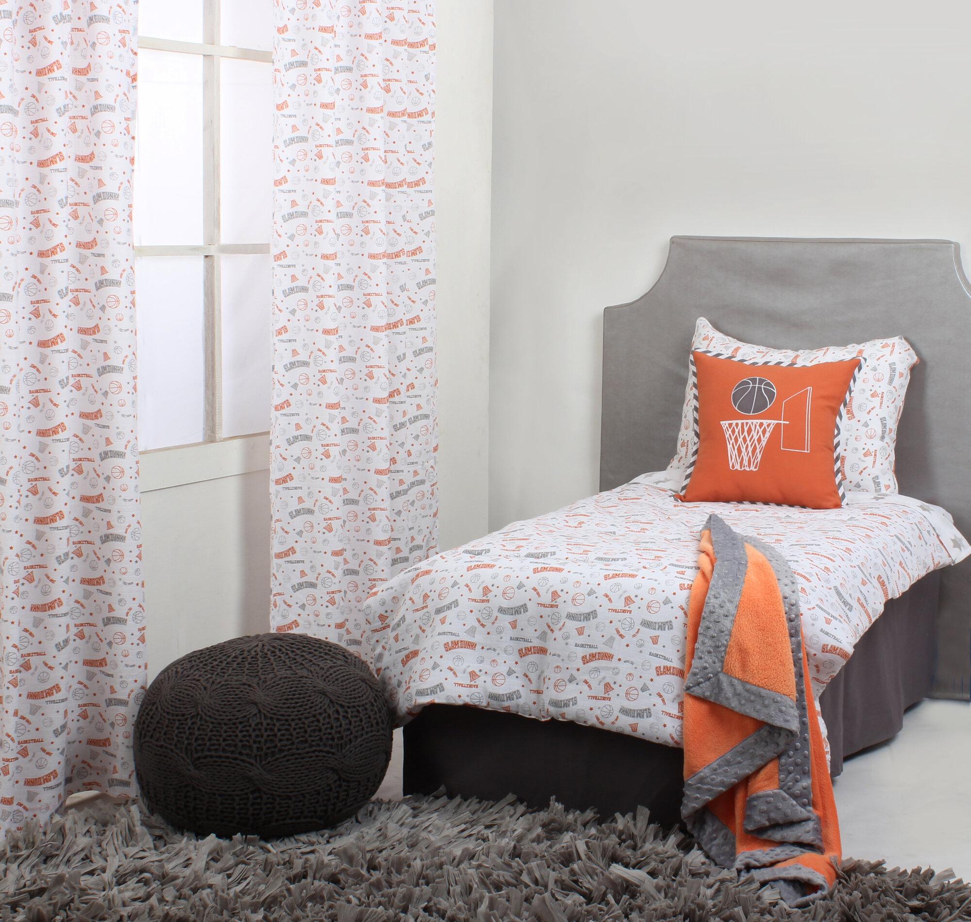 Bacati Basketball 4 Piece Toddler Bedding Set Ebay