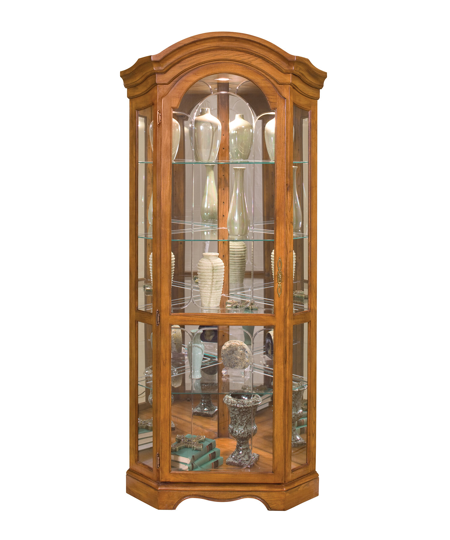 philip reinisch co barrington corner curio cabinet ebay. Black Bedroom Furniture Sets. Home Design Ideas