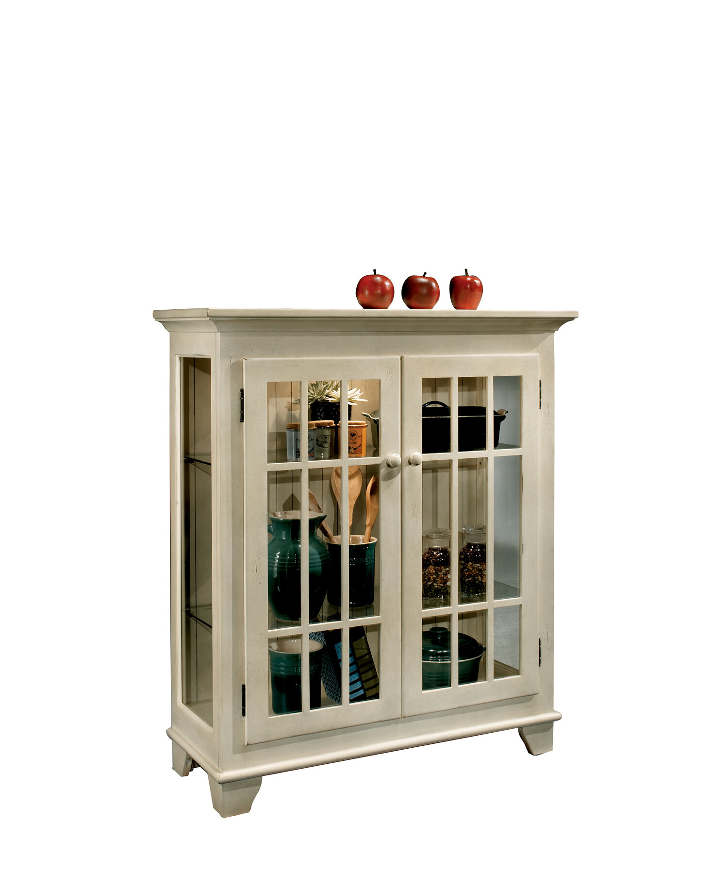 Philip Reinisch Co ColorTime Lighted Console Curio Cabinet