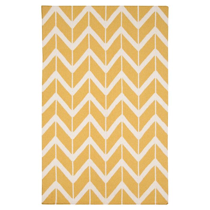 jill rosenwald rugs fallon white yellow area rug ebay. Black Bedroom Furniture Sets. Home Design Ideas