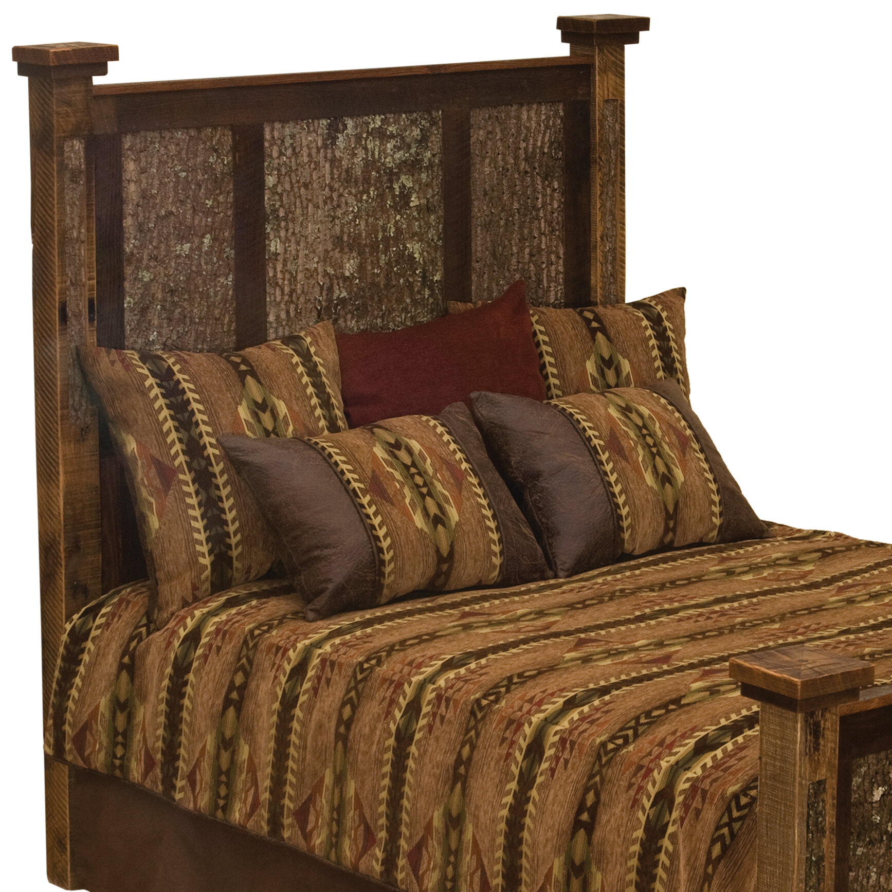 Fireside Lodge Barnwood Wood Panel Headboard Size: King