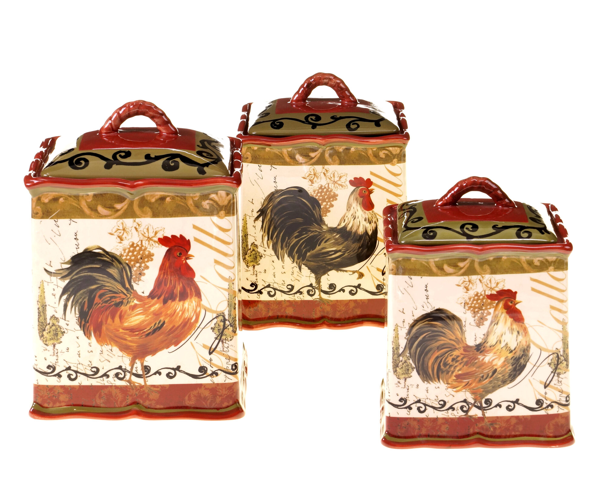 Certified International Tuscan Rooster 3 Piece Kitchen
