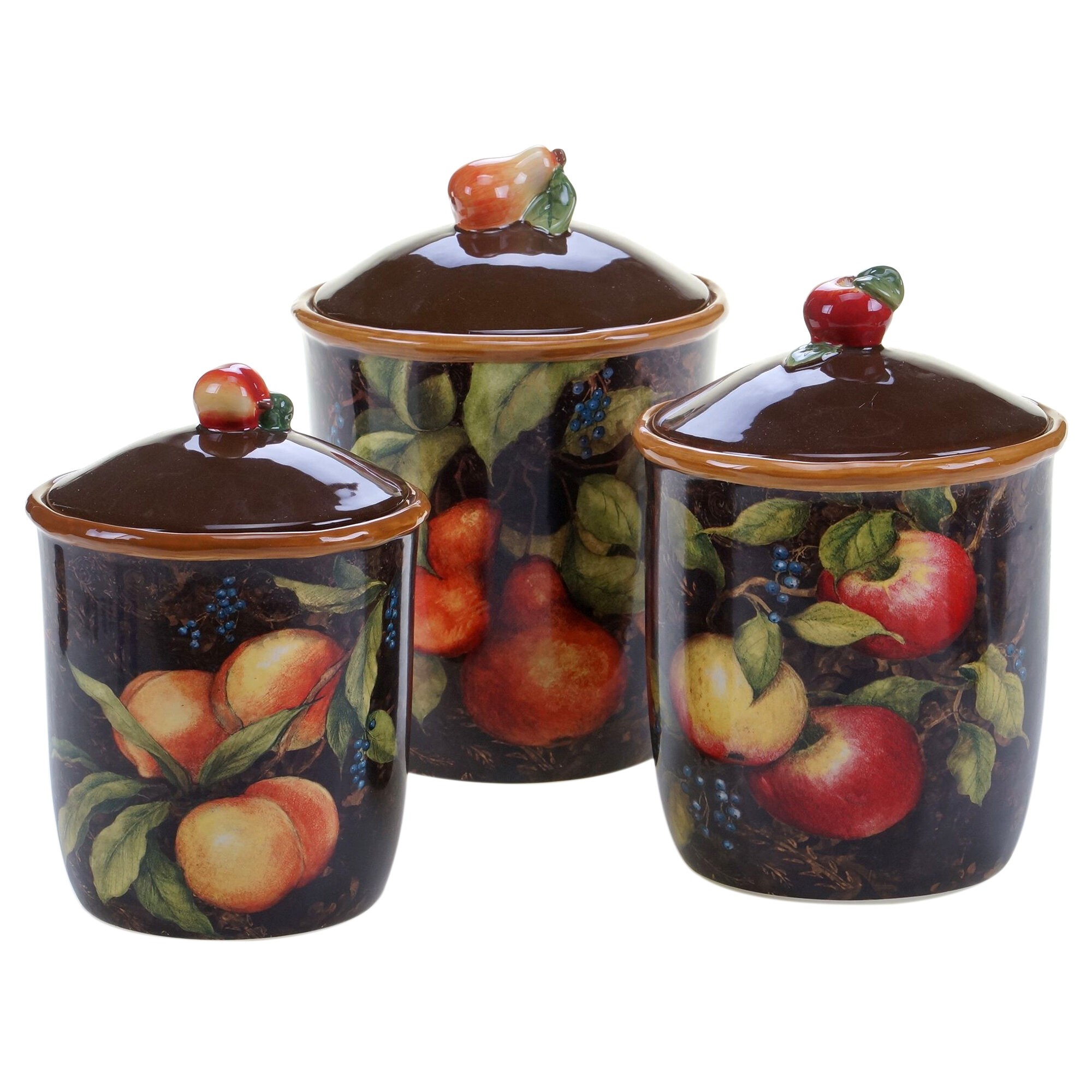 Kitchen Canisters Sets: Certified International Capri 3 Piece Kitchen Canister Set
