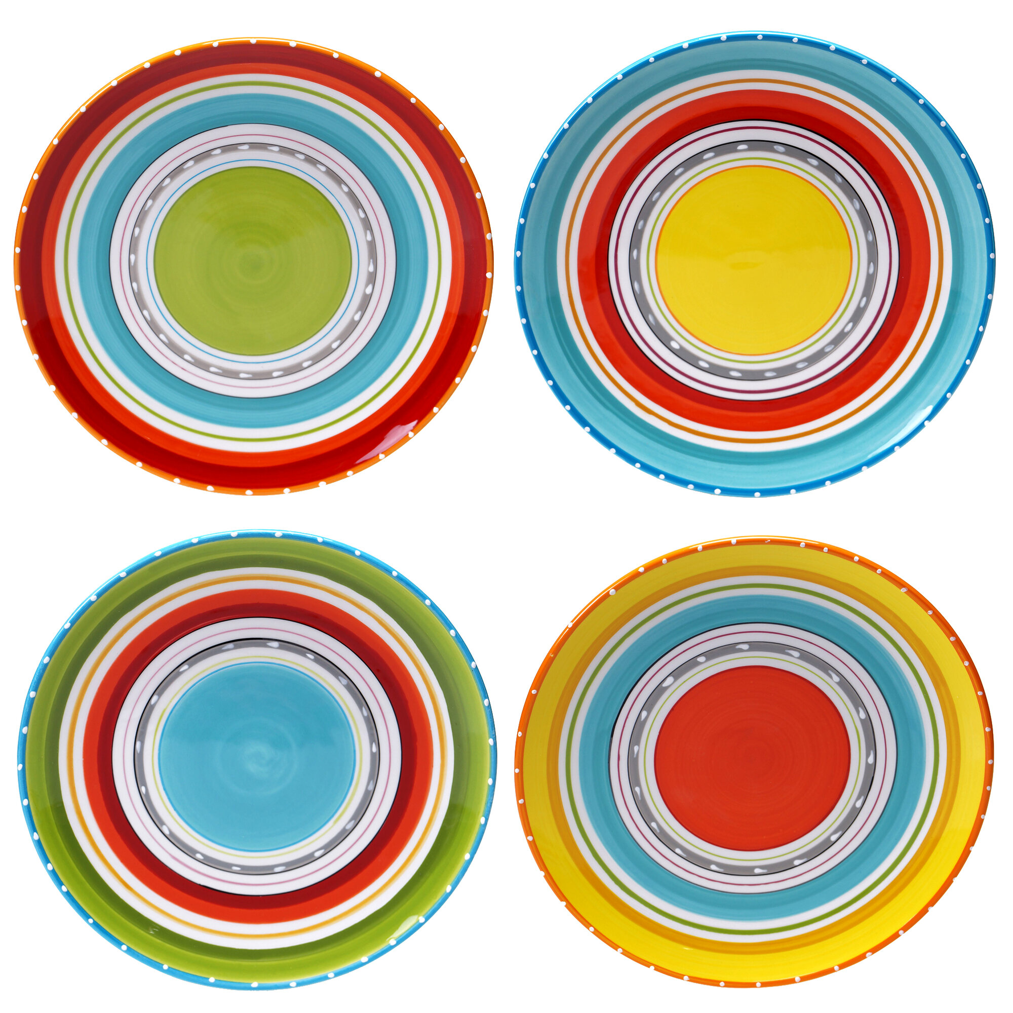 Certified International Mariachi Dinner Plate Set Of 4 EBay