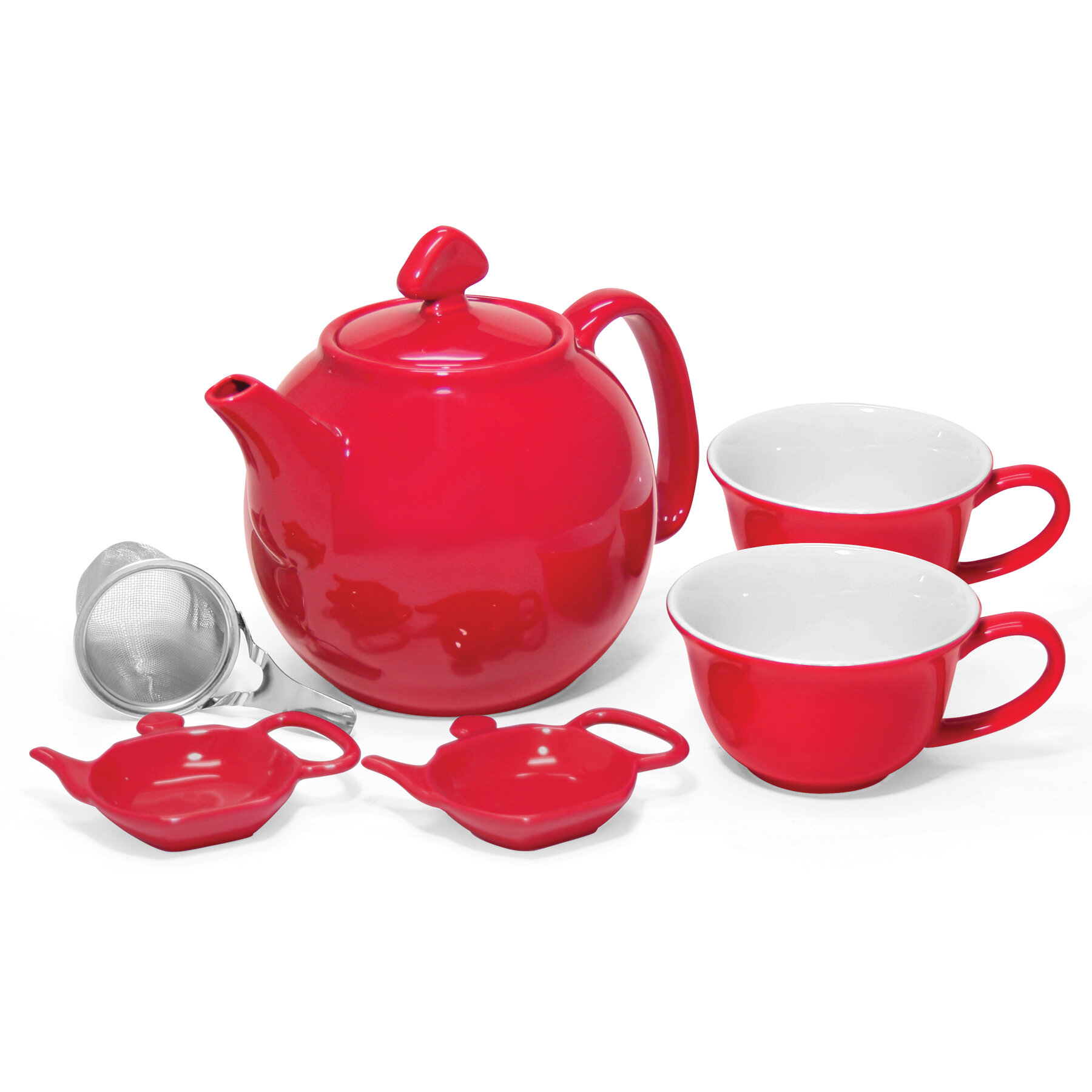 Chantal 6 piece ceramic lover 39 s teapot set ebay - Chantal teapots ...