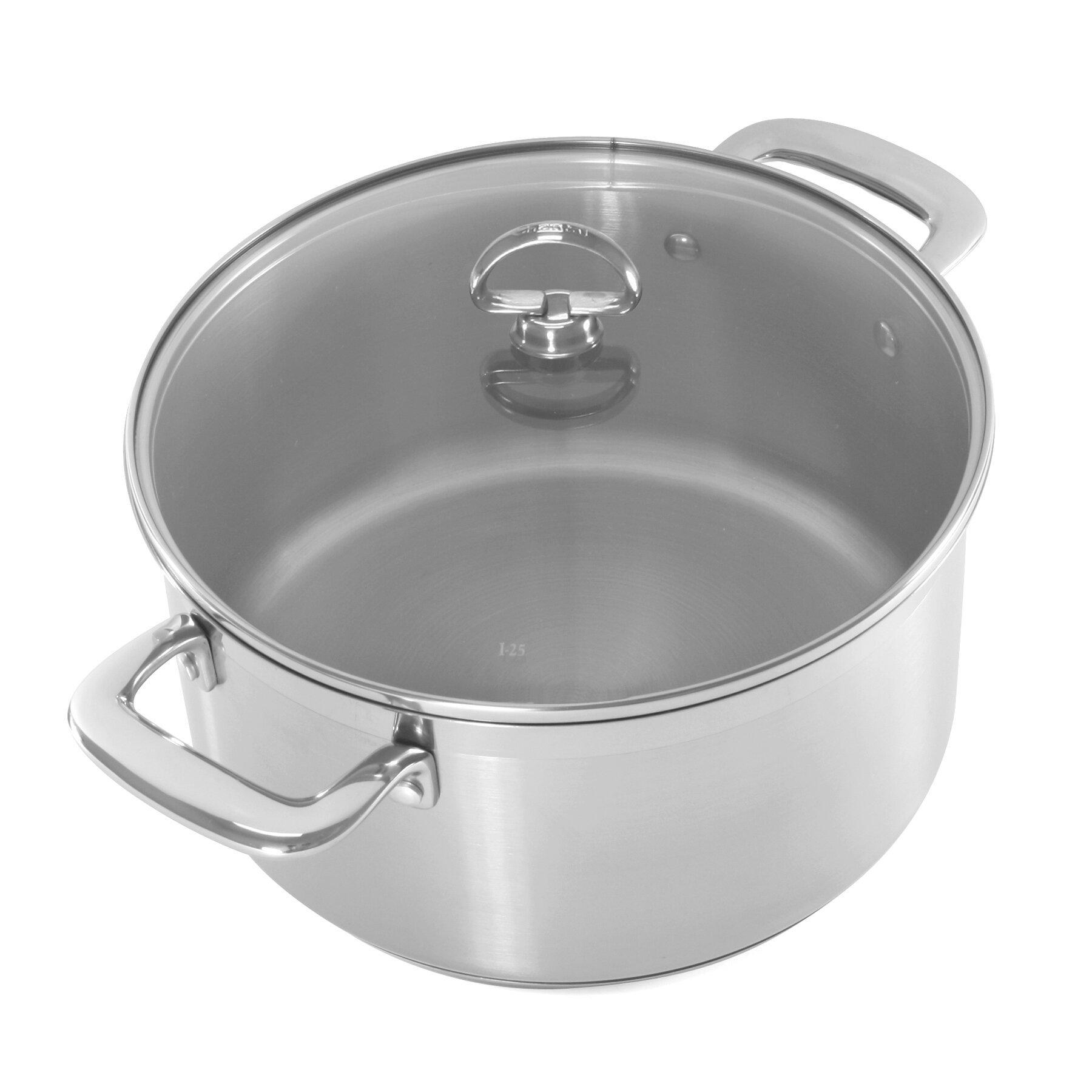 chantal induction 21 steel 6 qt round casserole ebay. Black Bedroom Furniture Sets. Home Design Ideas