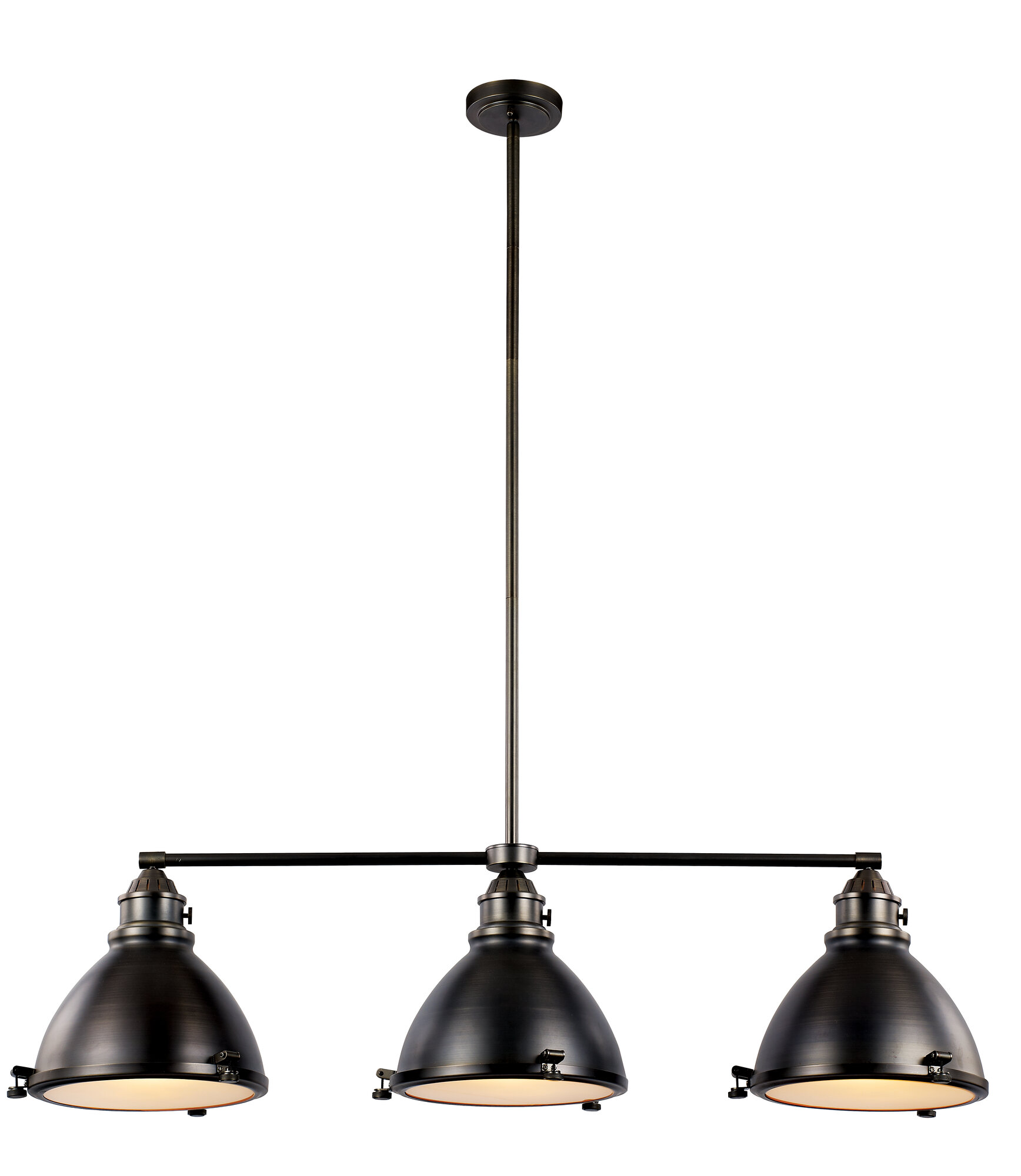 Transglobe lighting vintage 3 light kitchen island pendant for Kitchen island lighting pendants