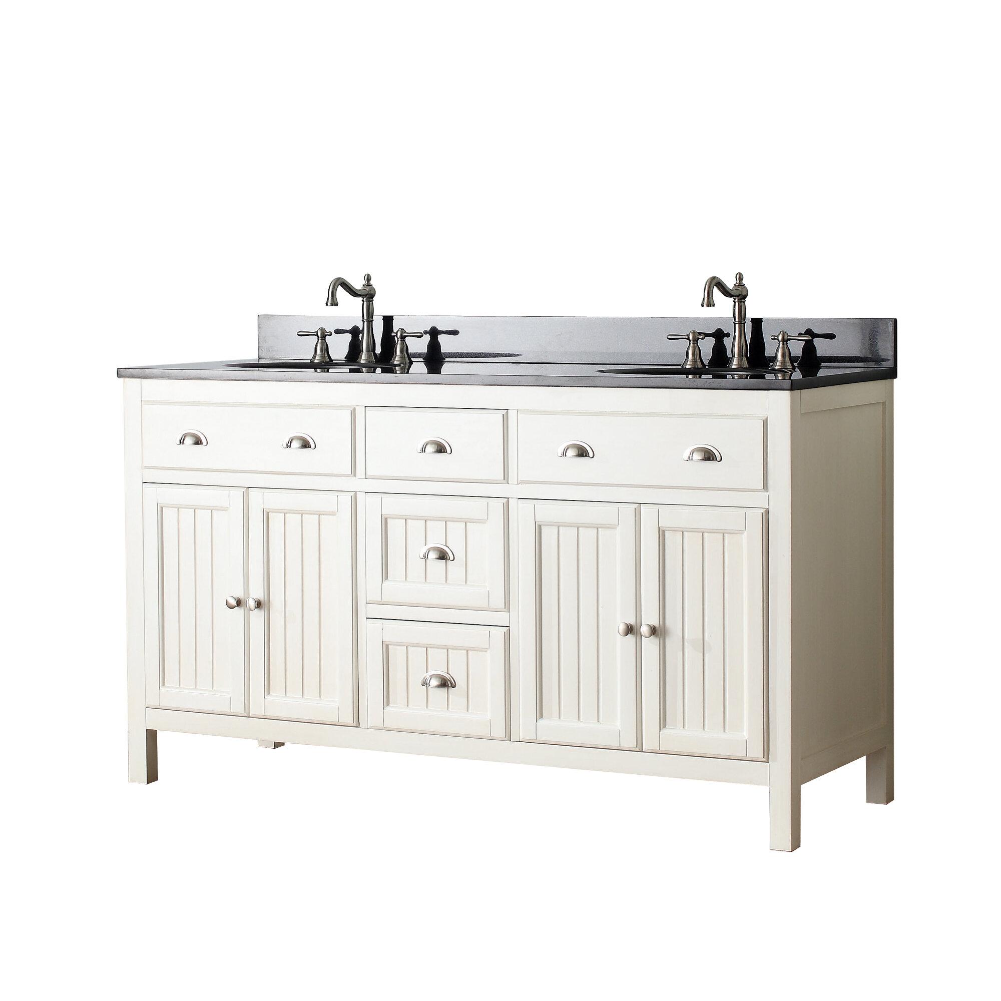 Avanity hamilton 61 double bathroom vanity set for Bathroom vanities hamilton