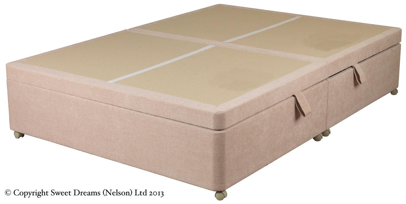 Sweet dreams amber storage ottoman divan base ebay for Ottoman divan base