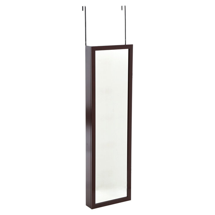 Mirrotek Wall Mounted Jewelry Armoire With Mirror