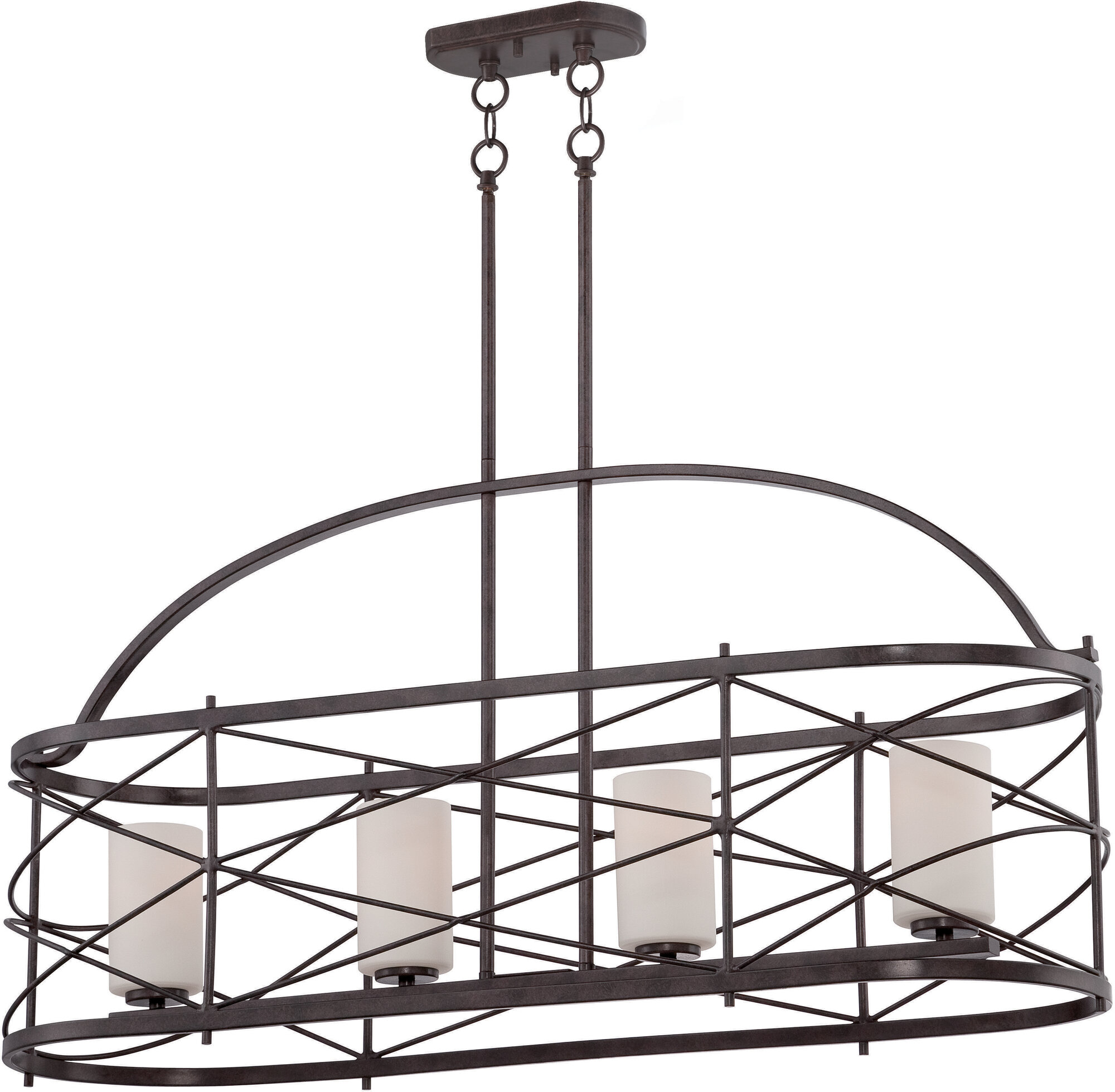 Kitchen Island With Darlana Chandelier: Nuvo Lighting Ginger 4 Light Kitchen Island Pendant