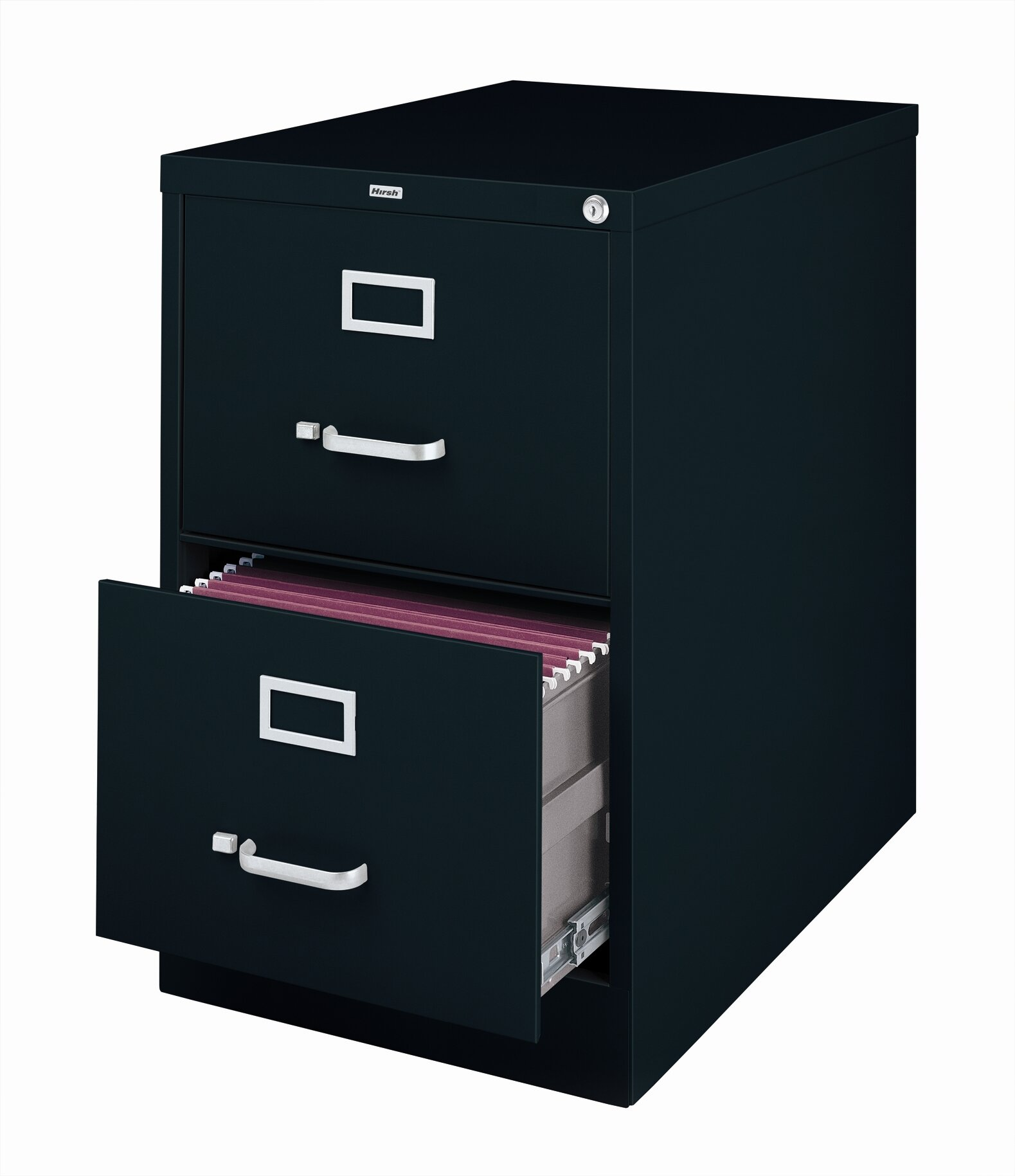 Commclad 2 Drawer Commercial Legal Size File Cabinet Black