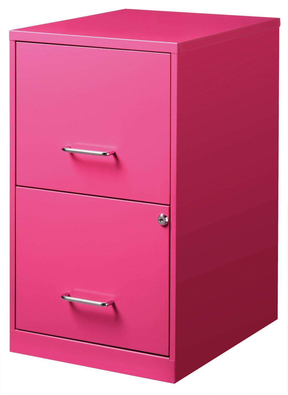 Commclad 2 Drawer File Cabinet Pink Ebay