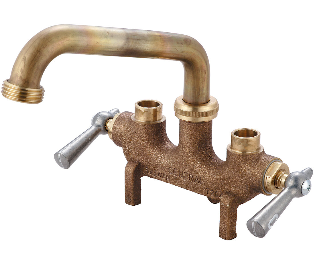 Central Brass Double Handle Laundry Faucet Ebay