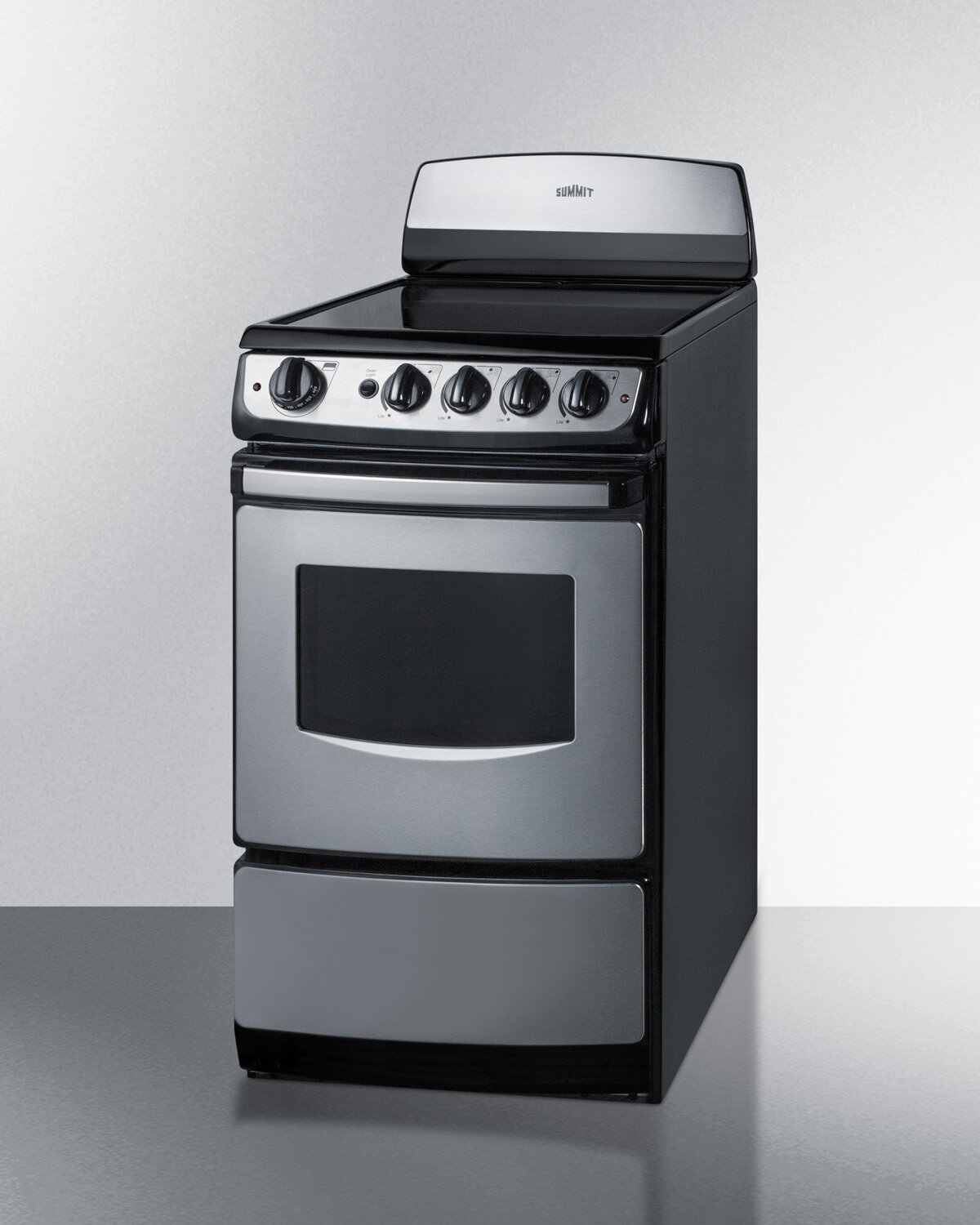 "20 Electric Range >> Summit Appliance 20"" Free-standing Electric Range 