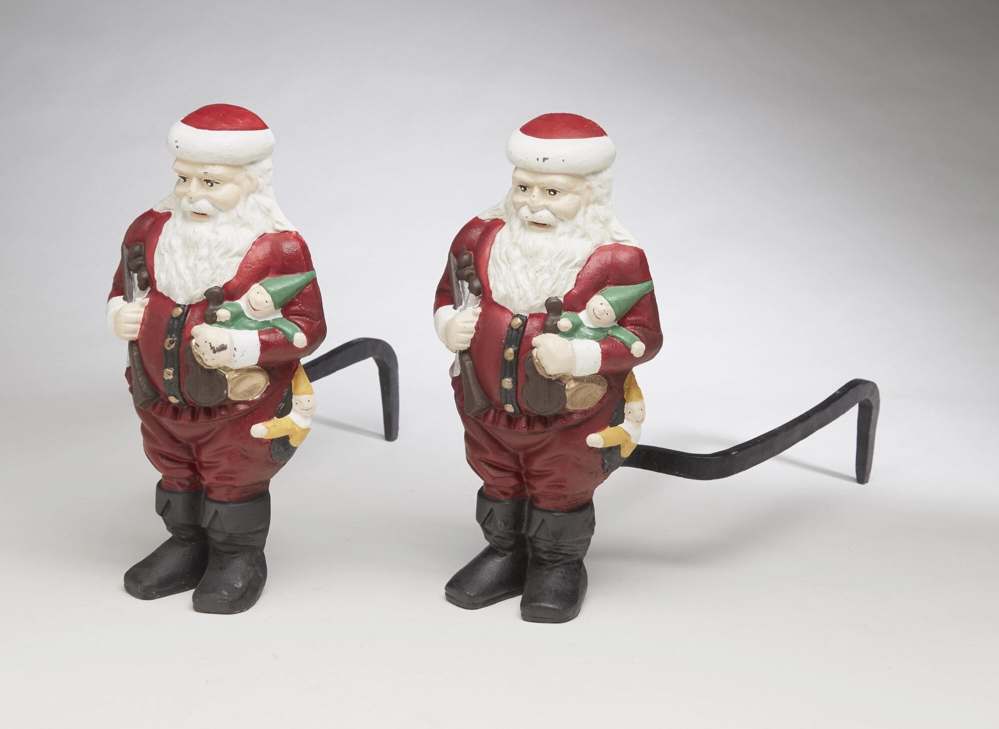 Aa importing santa claus andirons figurine set of ebay