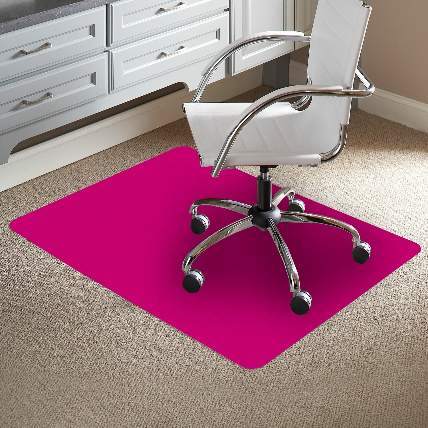 Chair Mat For Deep Pile Carpet: TrendSetter Rectangle Flat To Low Pile Carpet Straight