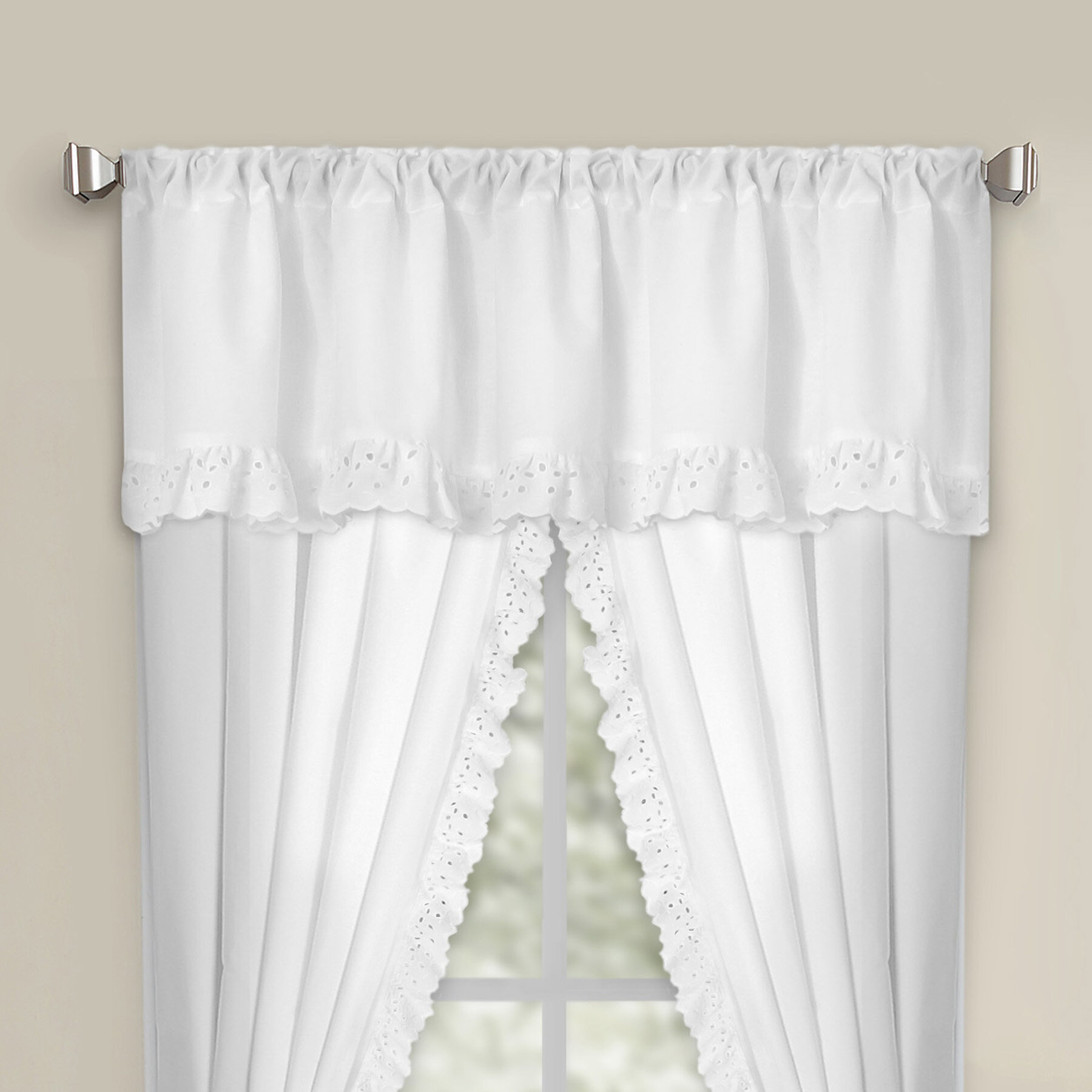 Fresh Ideas Eyelet Rod Pocket Curtain Valance Ebay