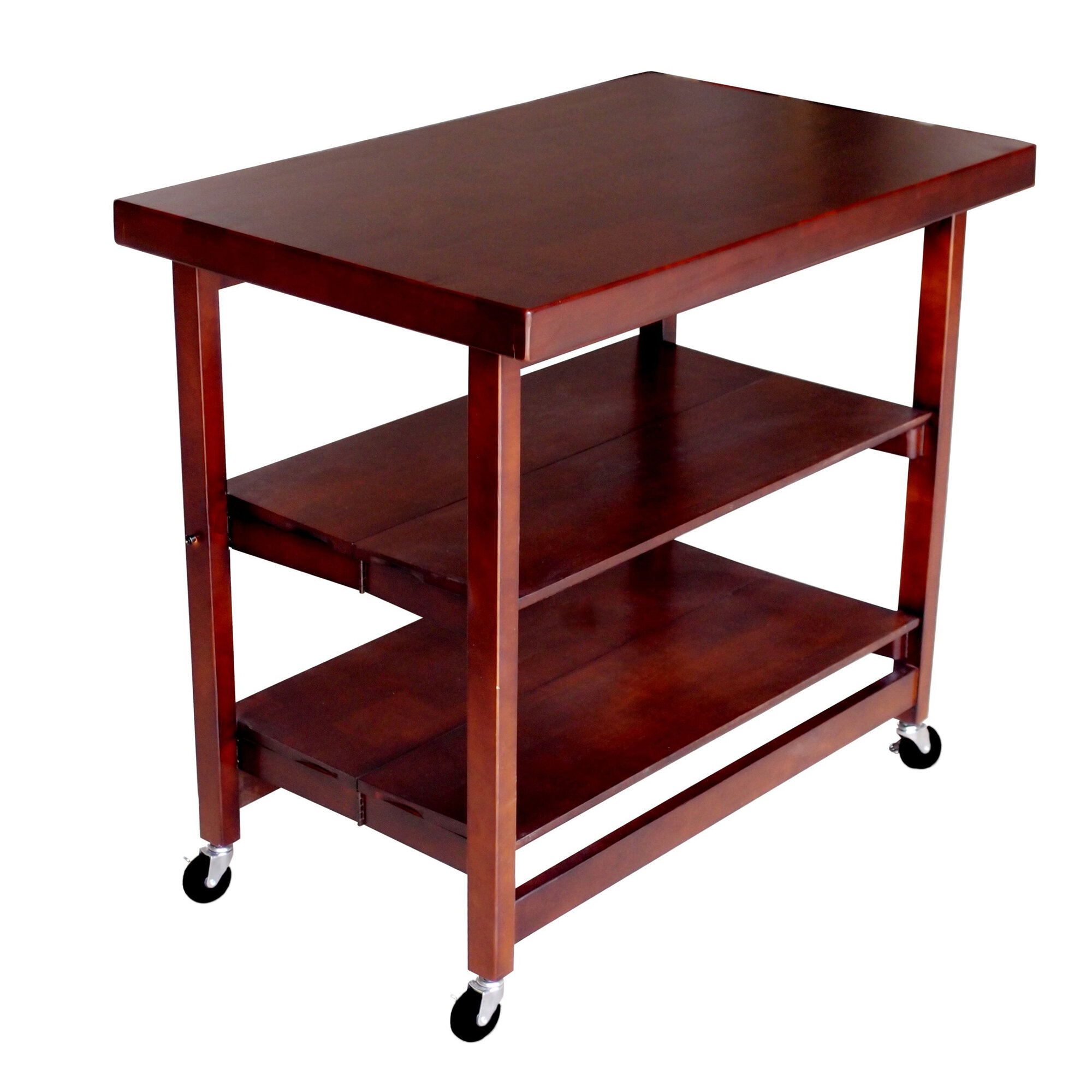 Oasis Concepts Folding Kitchen Island With Wood Top Ebay