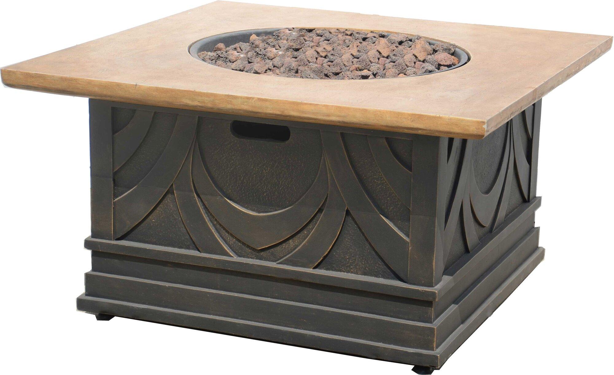 Costco Fire Pit Table Bond Manufacturing Avila Envirostone Propane Fire Pit Table | eBay