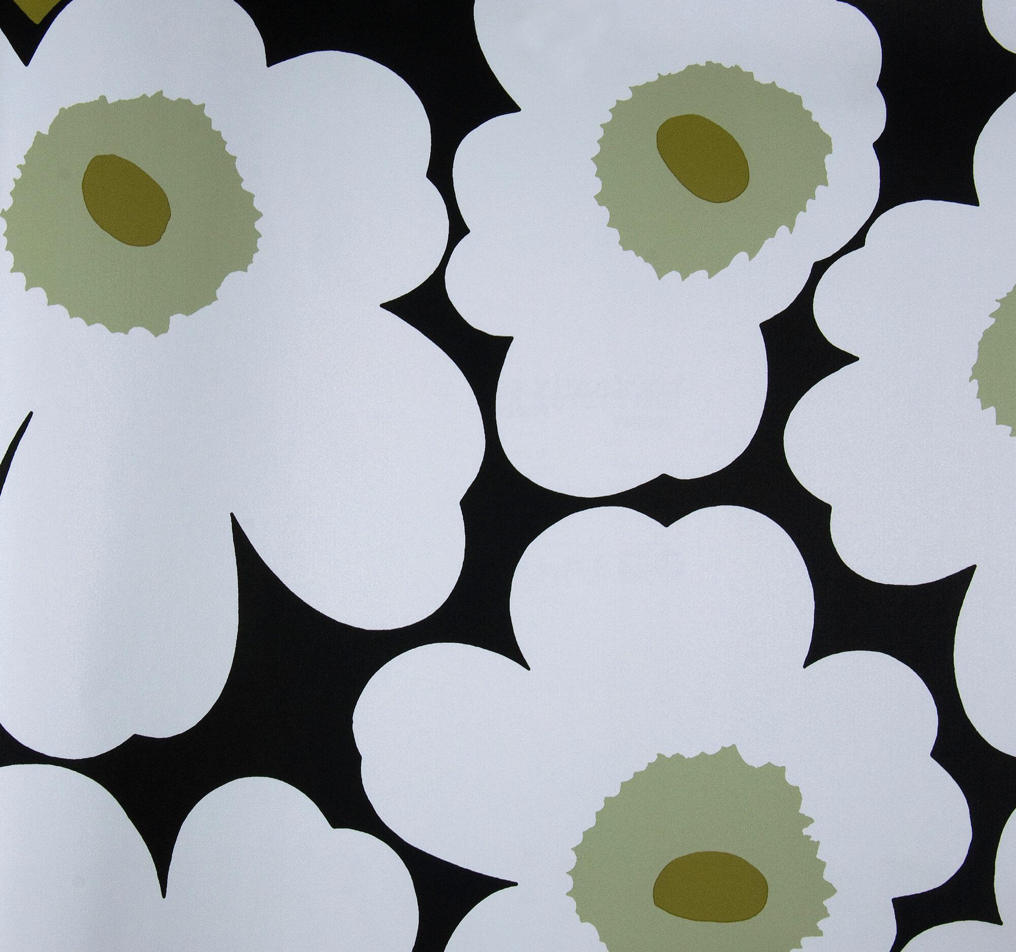 marimekko unikko floral botanical wallpaper ebay. Black Bedroom Furniture Sets. Home Design Ideas