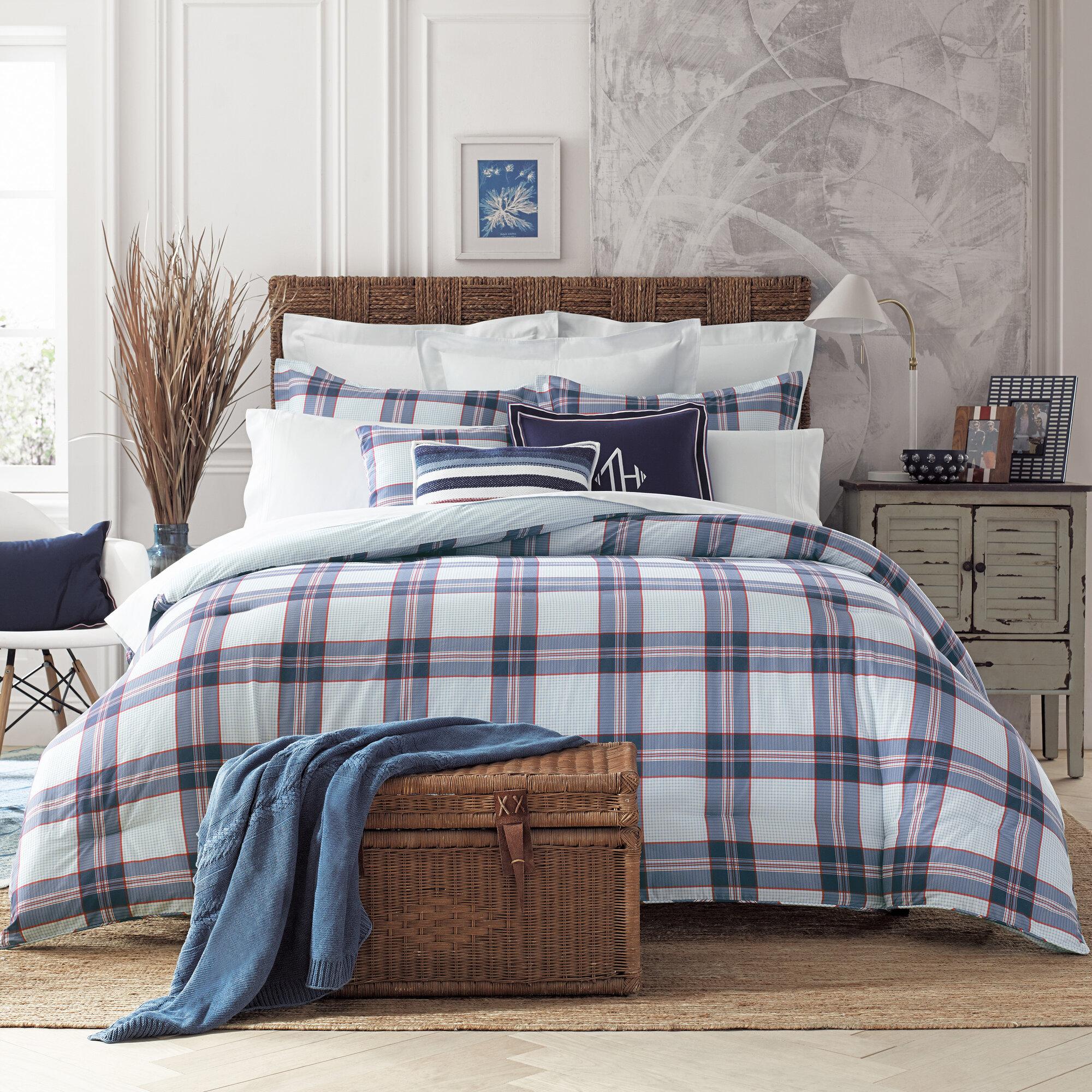 Tommy Hilfiger Surf Plaid Comforter Set Ebay