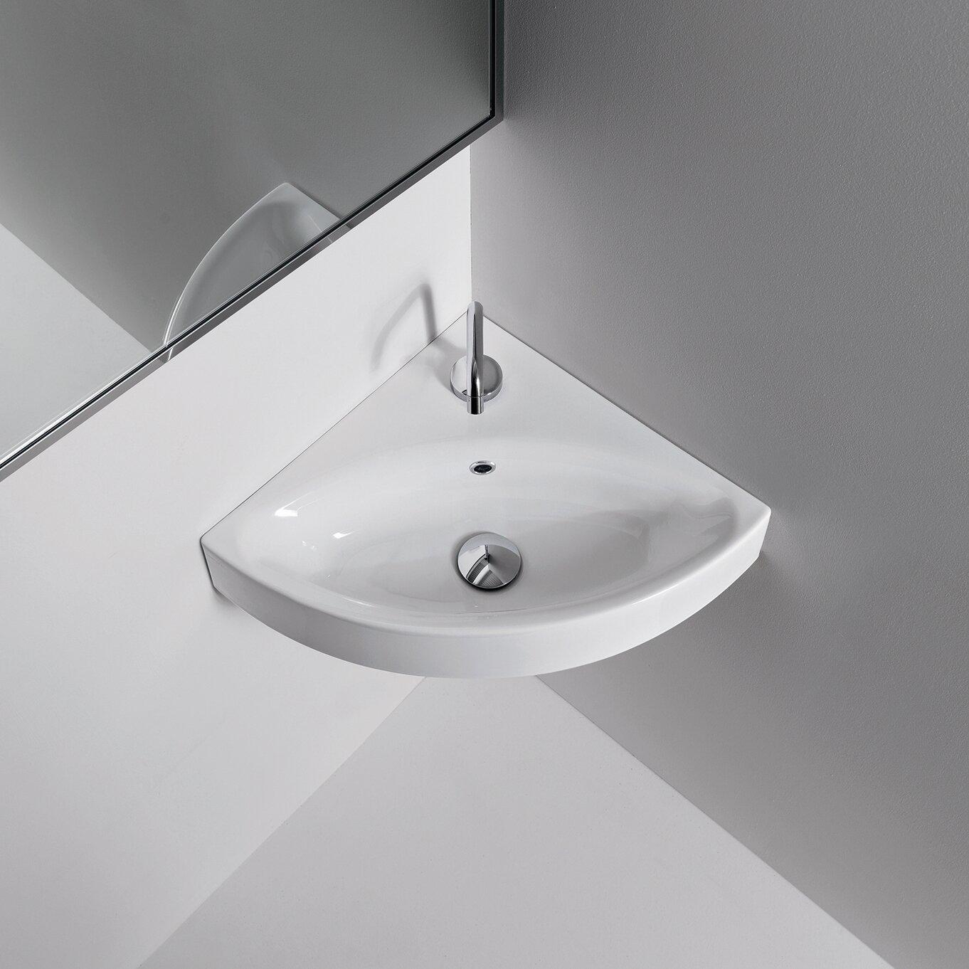 Ada Corner Sink : ... Collections Kerasan Cento Wall Mounted / Vessel Bathroom Corner Sink