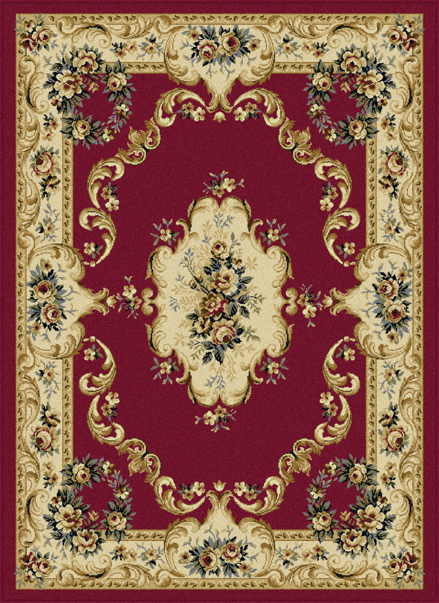 Tayse rugs laguna red floral area rug ebay for Red floral area rug