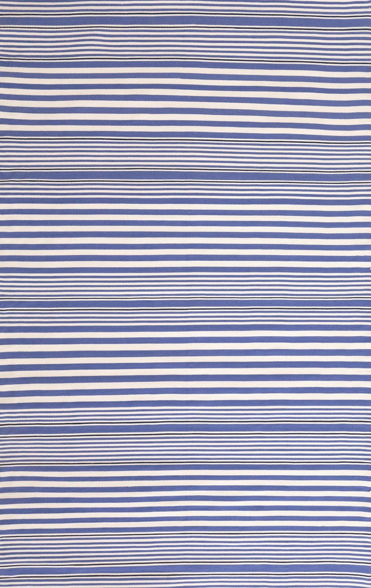 Dash and Albert Rugs Rugby Stripe Denim Indoor/Outdoor Area Rug Rug Size: SAMPLE: 18