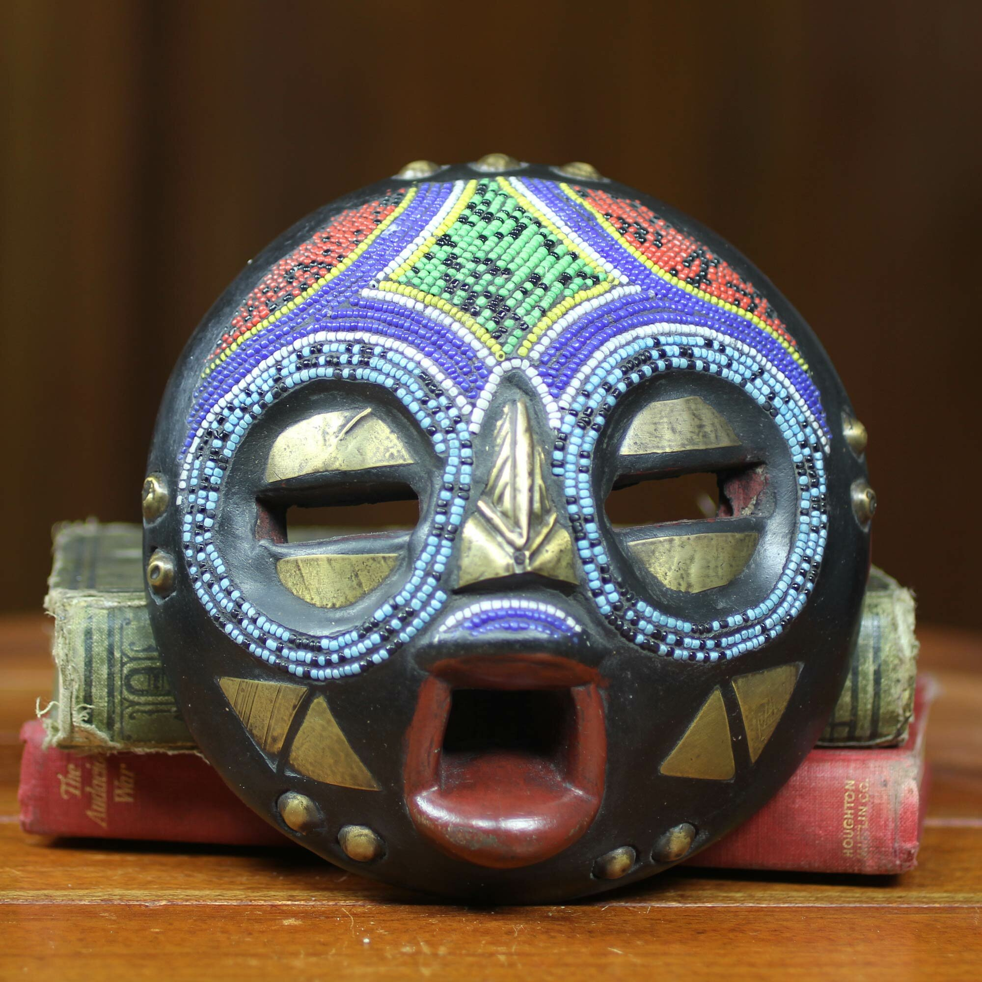 Novica Awudu Saaed Colorful African Tribal Linguist Mask Wall Decor Ebay