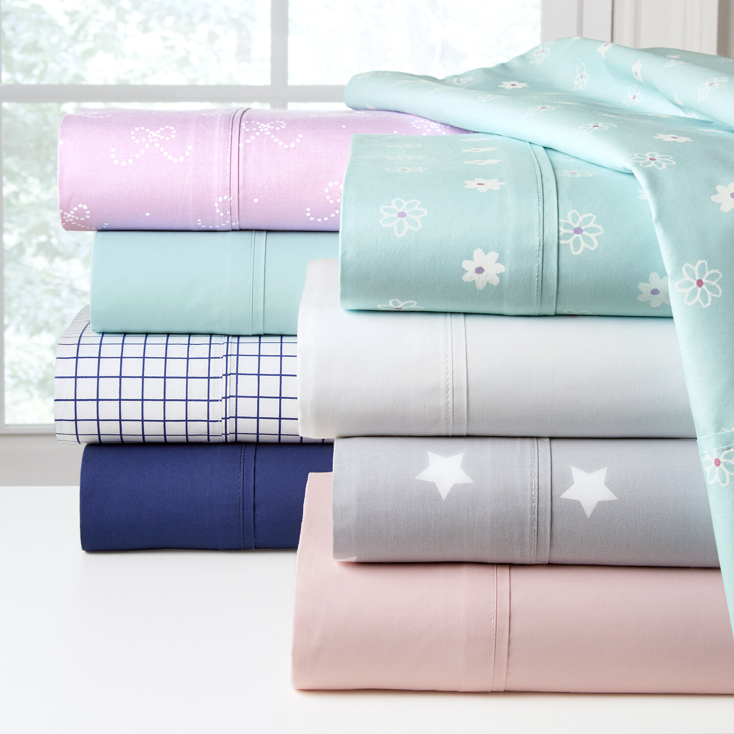 Pointehaven 200 Thread Count 100% Soft Cotton Percale ...
