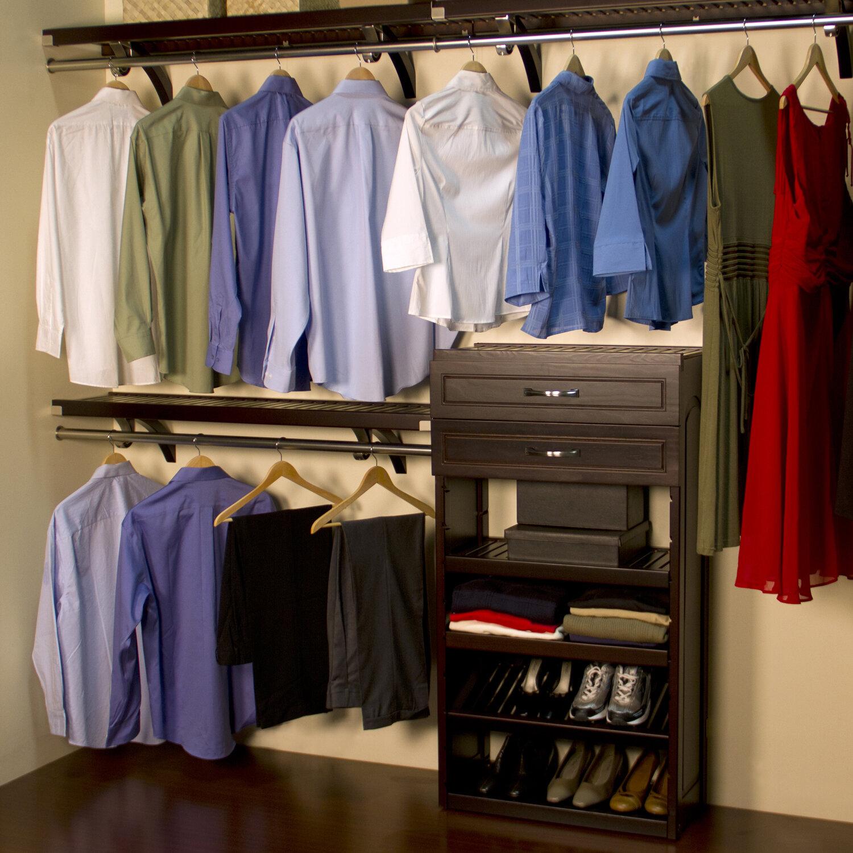 louis home woodcrest 120 quot wide closet system ebay