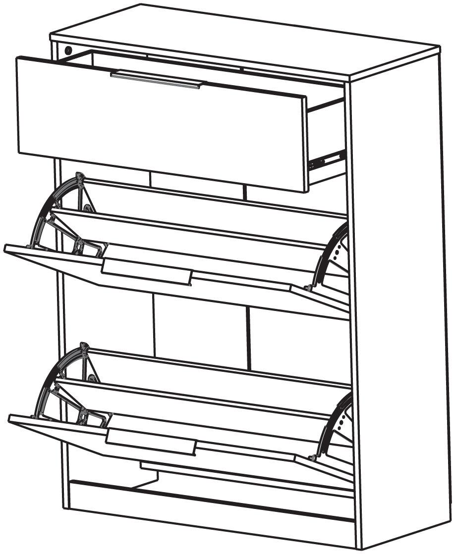 demeyere schuhschrank chest mit schublade und 2 klappen. Black Bedroom Furniture Sets. Home Design Ideas
