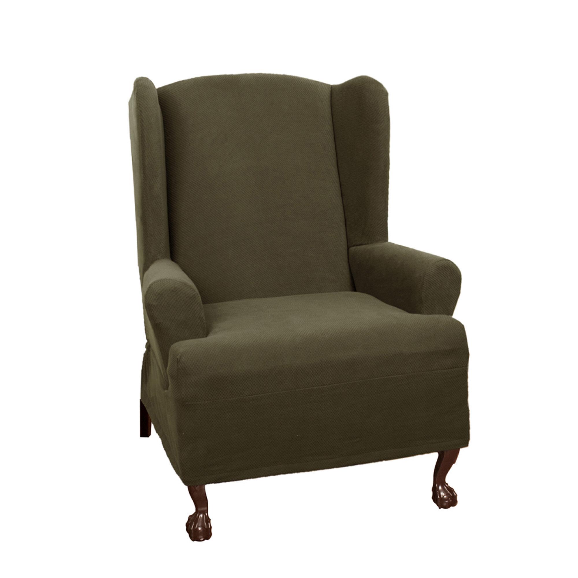 Maytex Pixel Stretch Wing Chair T Cushion Slipcover Ebay
