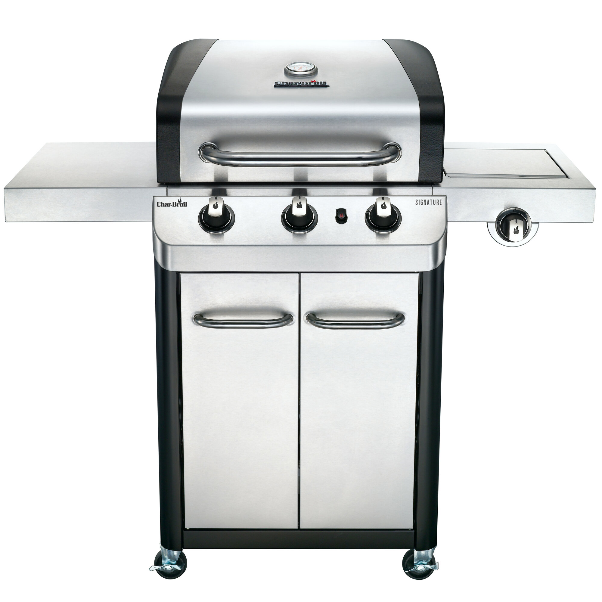 char broil signature 3 burner propane gas grill with cabinet ebay. Black Bedroom Furniture Sets. Home Design Ideas