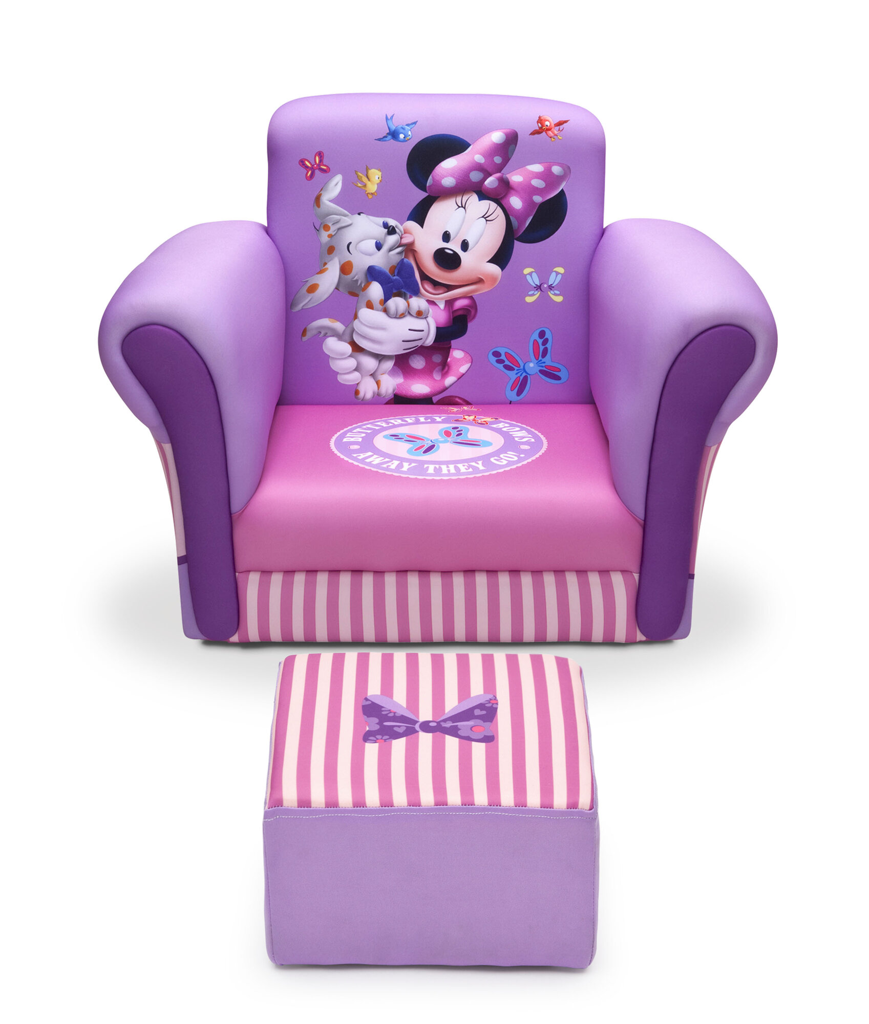 Delta Children Minnie Mouse Upholstered Kids Club Chair