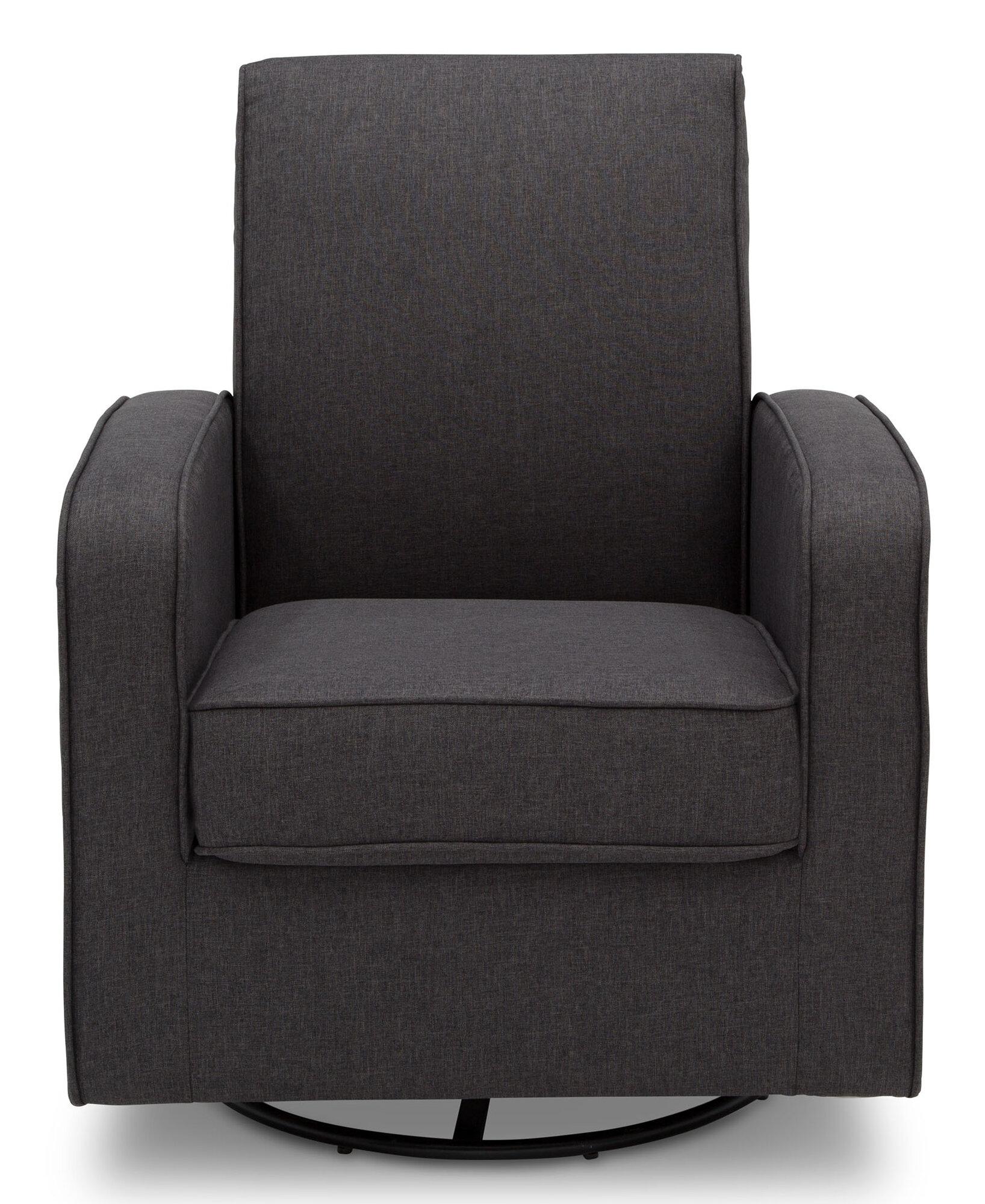 Delta Children Charlotte Nursery Glider Swivel Rocker Chair Charcoal