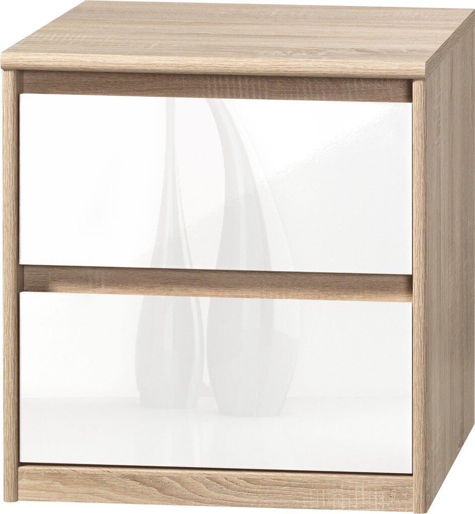 cs schmal kommode soft plus smart mit 2 schubladen ebay. Black Bedroom Furniture Sets. Home Design Ideas