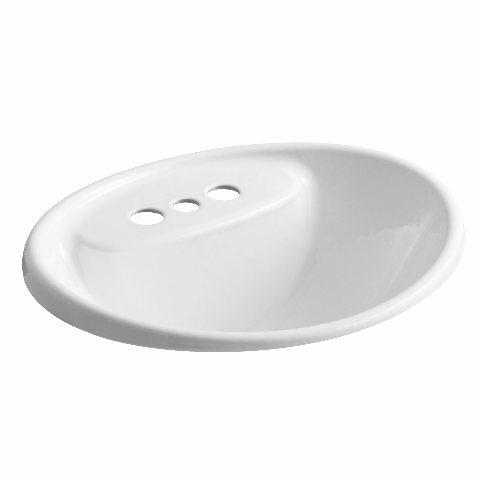 Kohler Drop In Bathroom Sink : Details about Kohler Tides Drop-In Bathroom Sink with 4