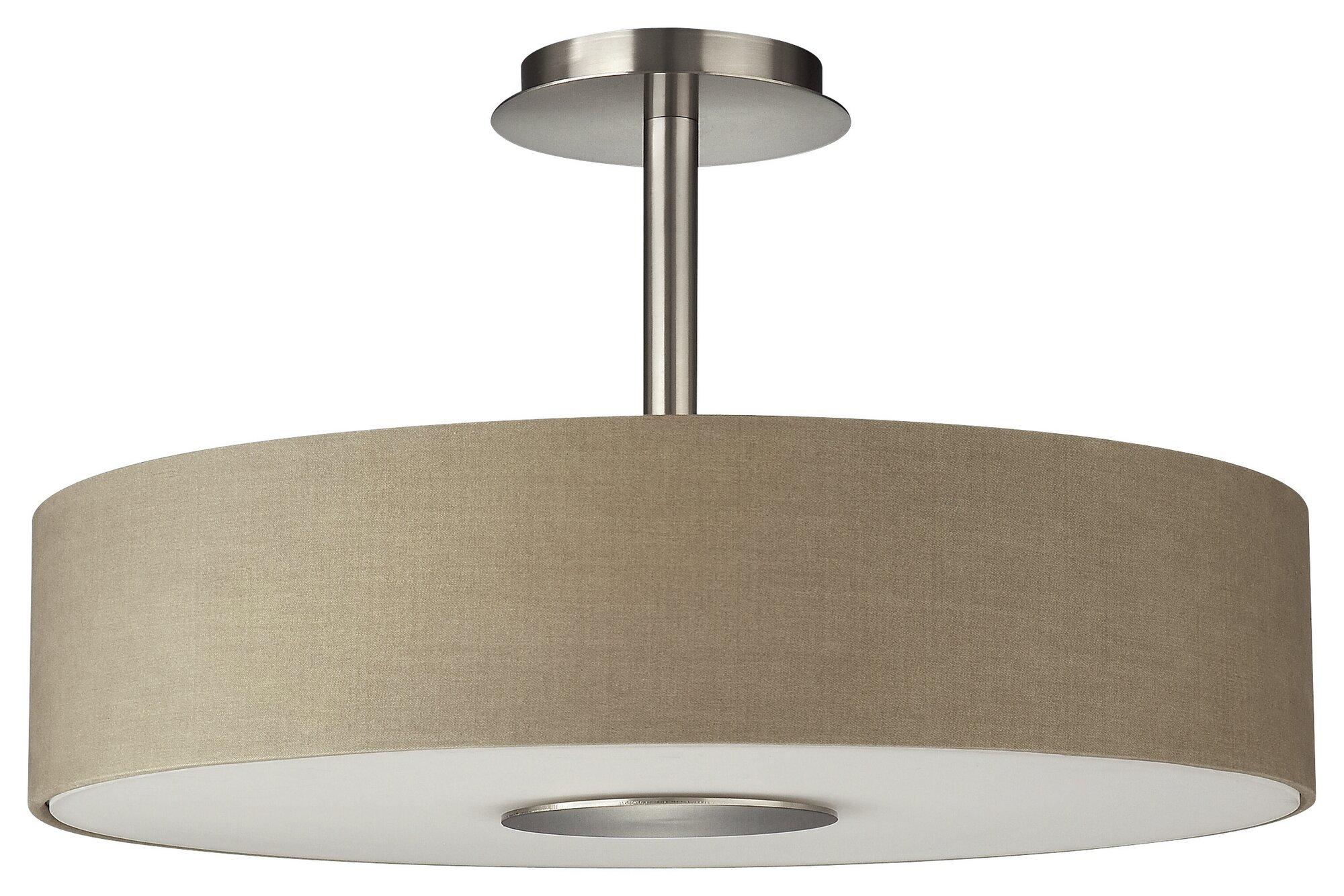 philips consumer luminaire dani 3 light semi flush mount ebay. Black Bedroom Furniture Sets. Home Design Ideas