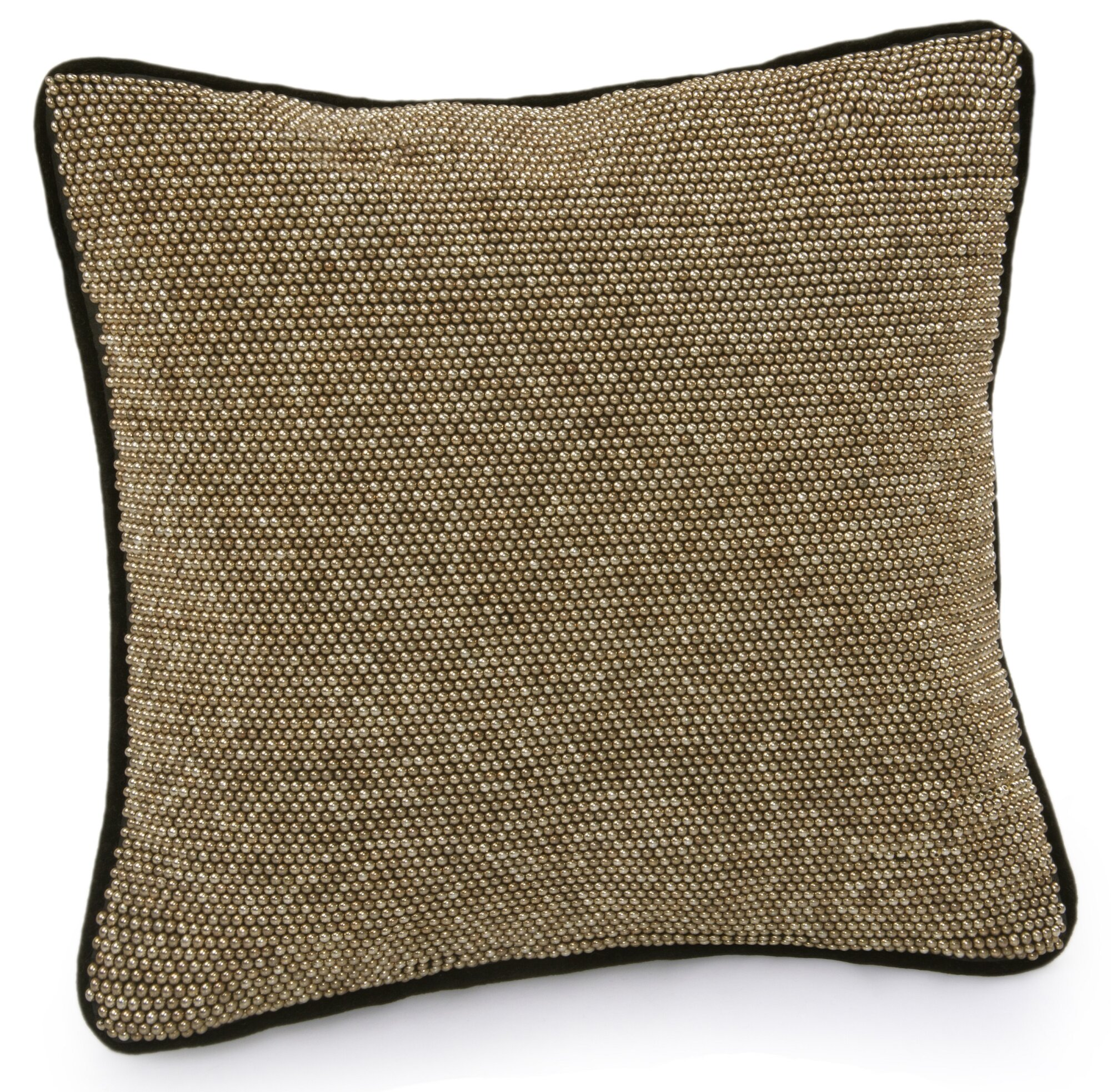 Black Beaded Throw Pillow : Jovi Home Diva Hand-Beaded Throw Pillow eBay