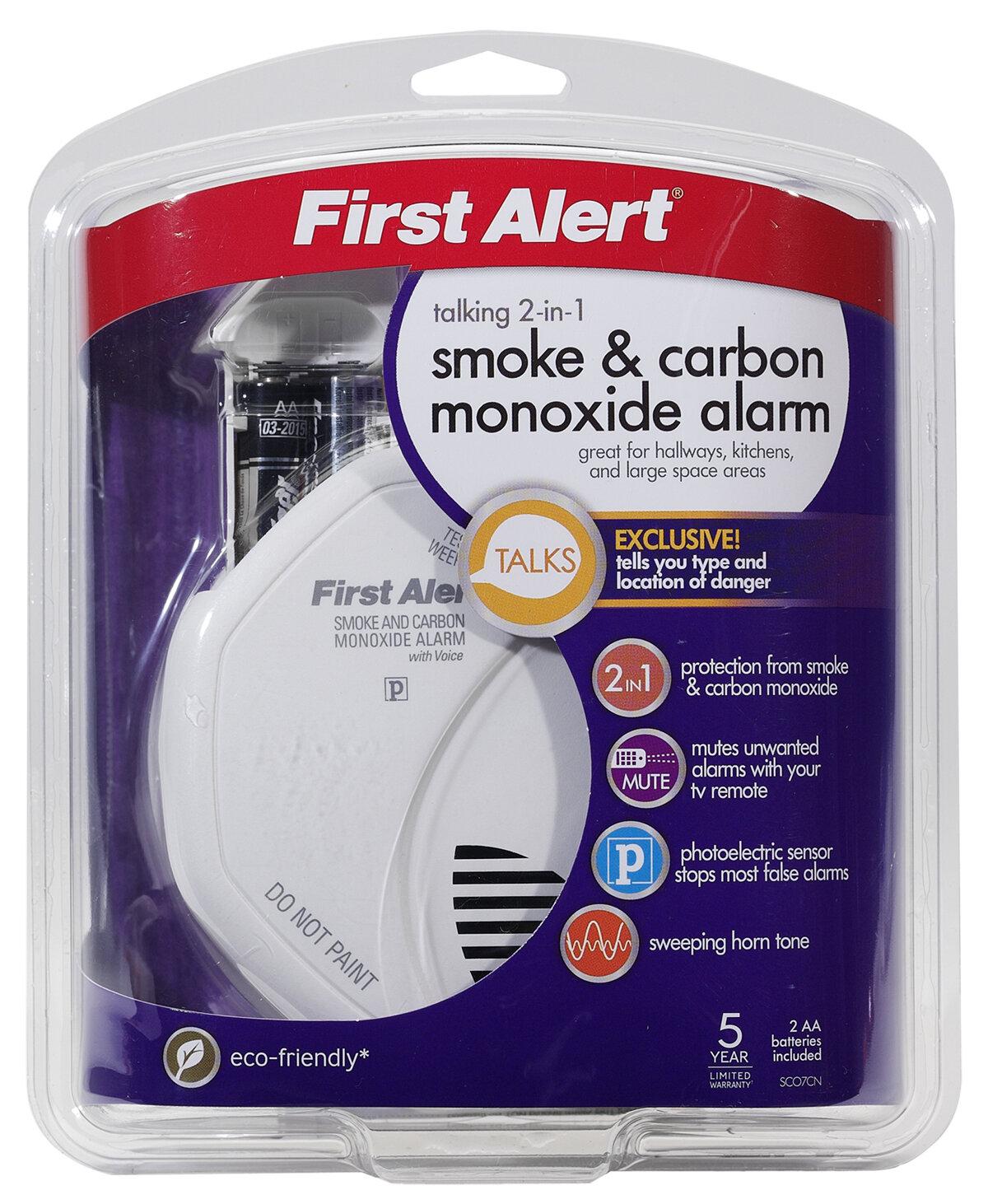 first alert combination smoke and carbon monoxide voice. Black Bedroom Furniture Sets. Home Design Ideas