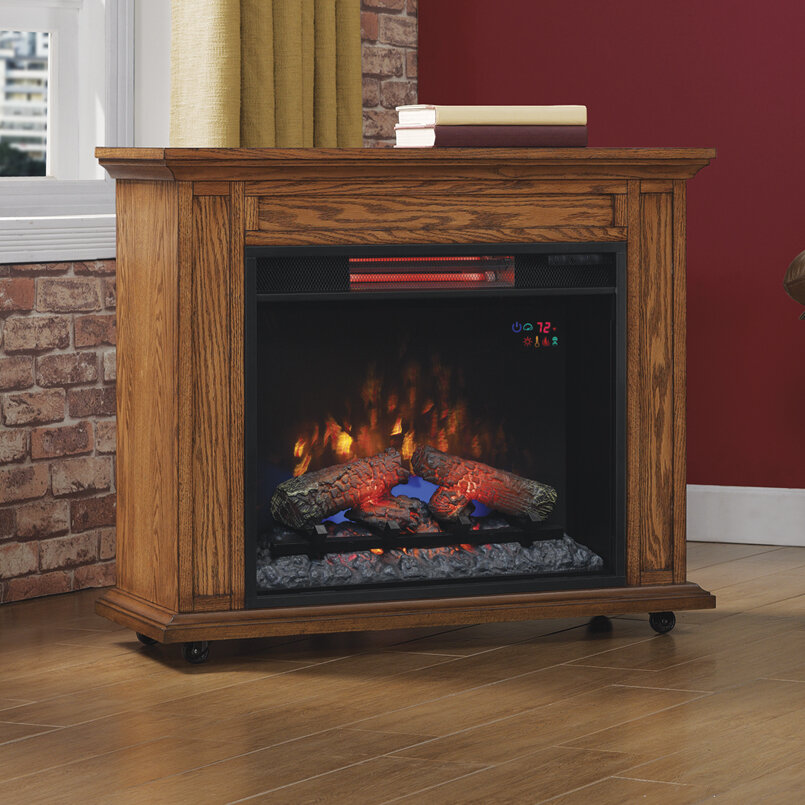 Duraflame Infrared Rolling Mantel Electric Fireplace Ebay