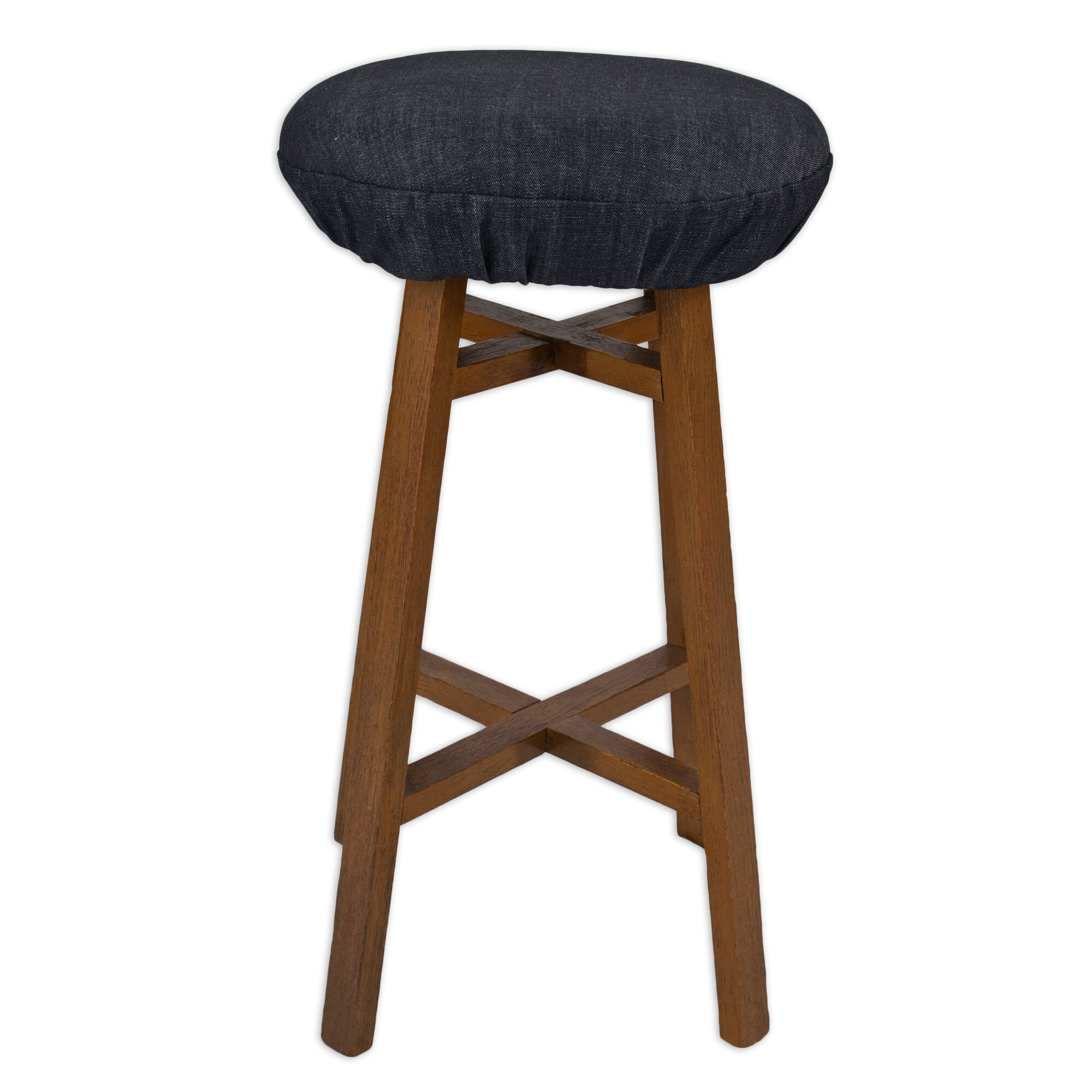 Denim Round Foam BAR Stool Cushion eBay : 1 from ebay.com.au size 2000 x 2000 jpeg 288kB