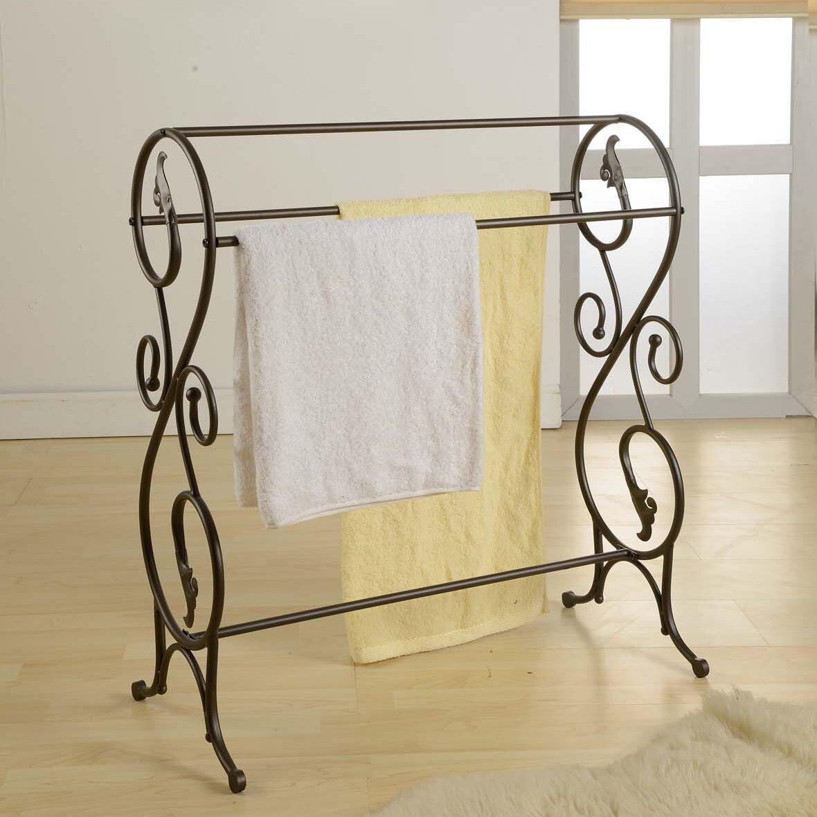 Free standing towel rack ebay - Bathroom towel racks free standing ...