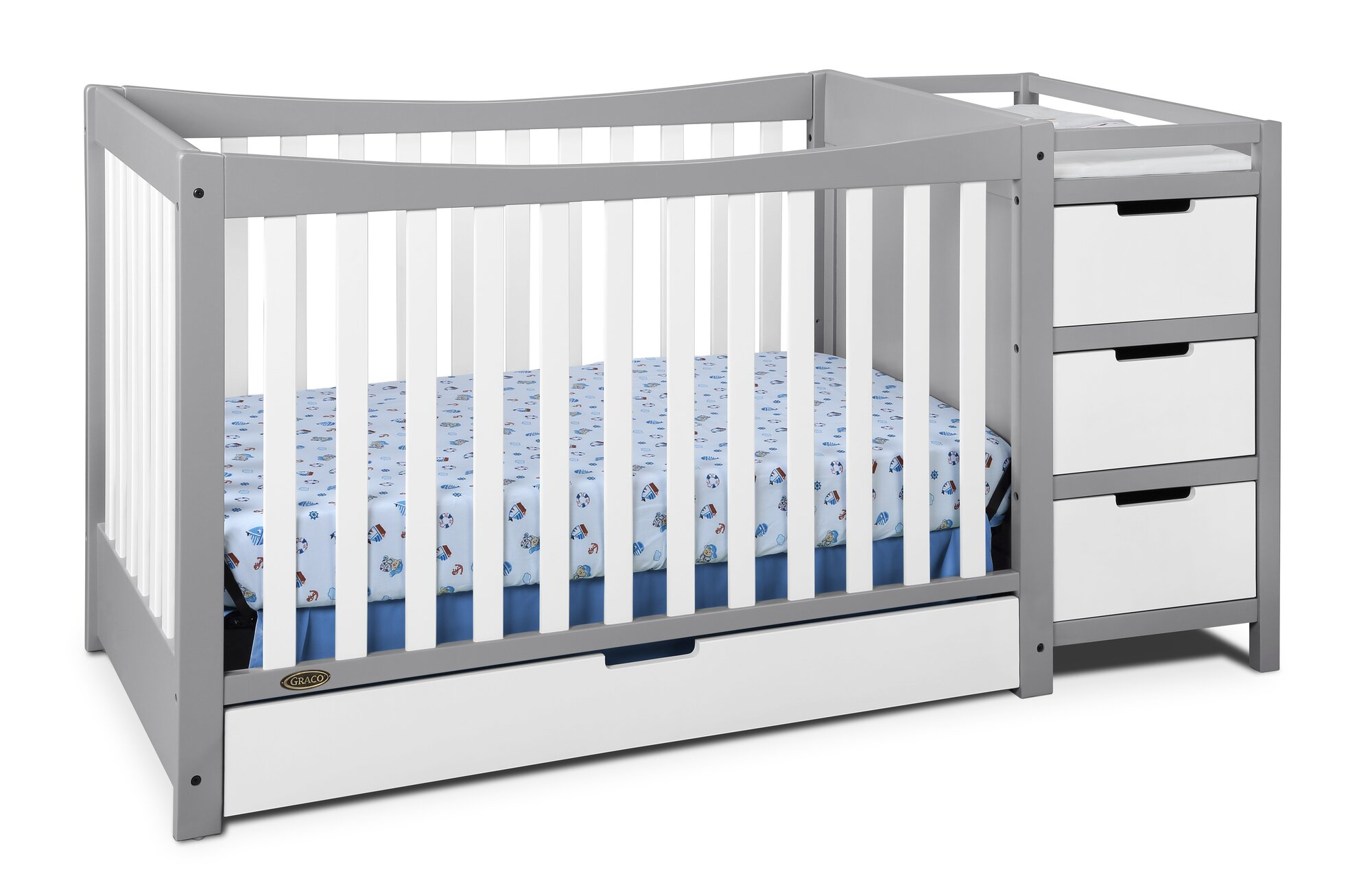 Graco Remi 4 In 1 Convertible Crib And Changer Ebay
