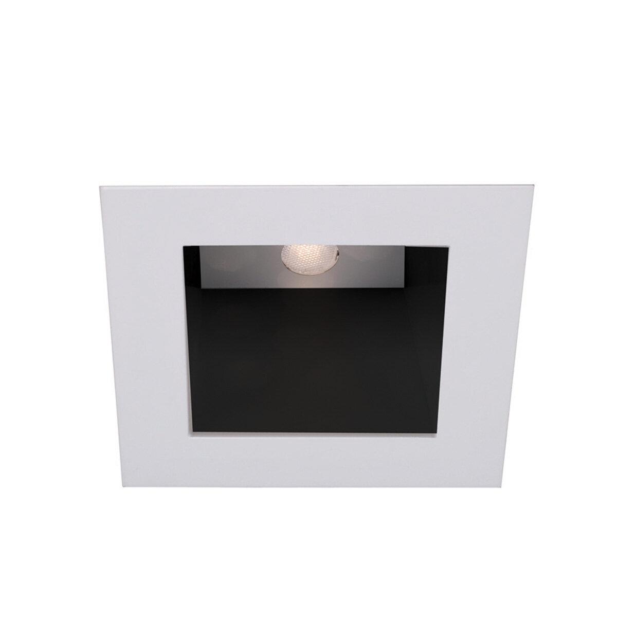 Led Recessed Lighting Square Trim : Wac lighting ledme square quot recessed trim
