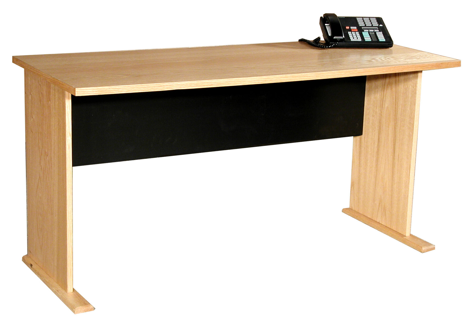 Rush Furniture Modular Real Oak Wood Veneer Furniture Panel Desk Shell Ebay